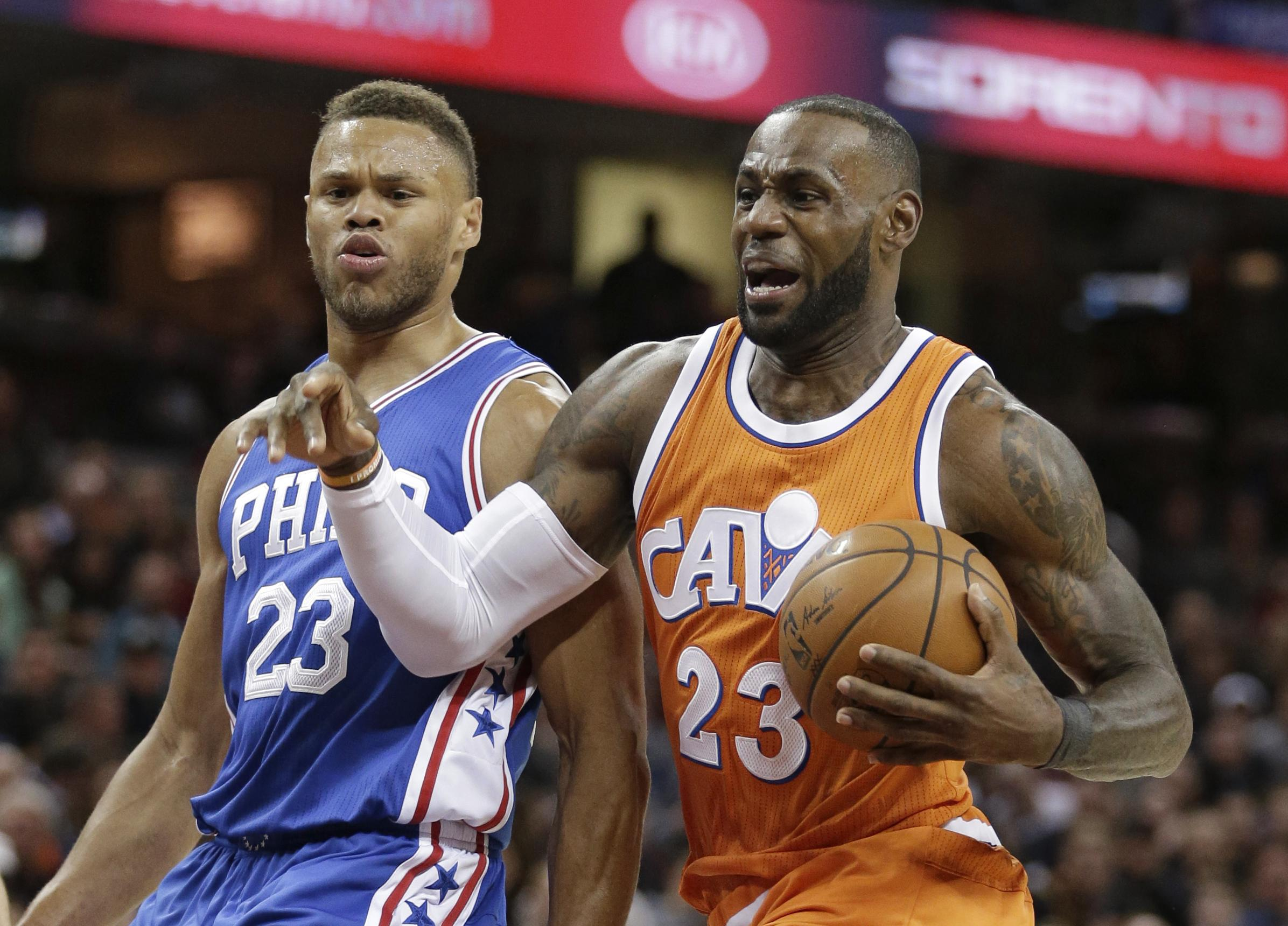 NBA Capsules  LeBron James leads Cavaliers to win over 76ers  28a54647a