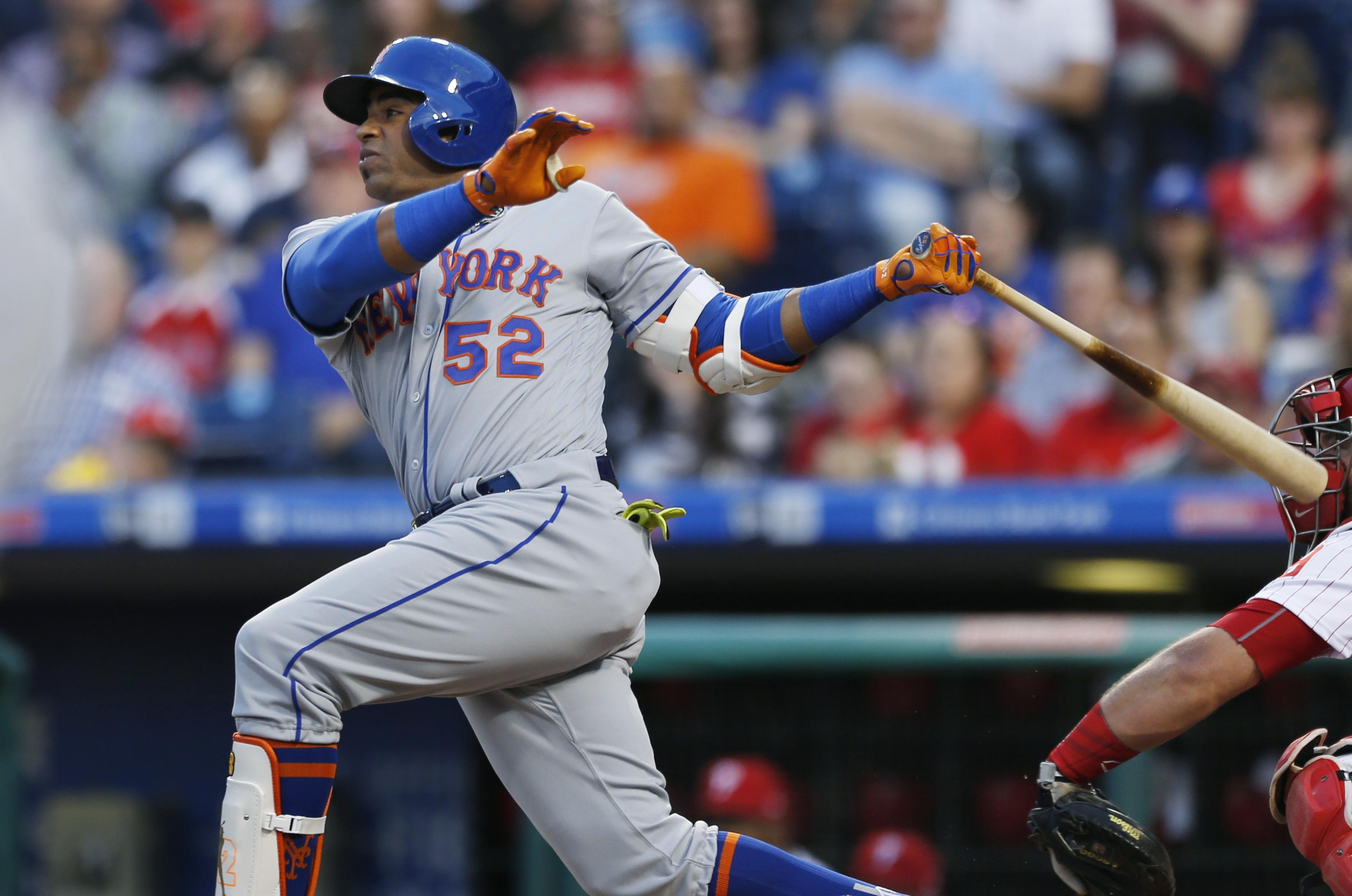 new concept c1fa2 686dd MLB Capsules: New York Mets' Yoenis Cespedes hits three home ...