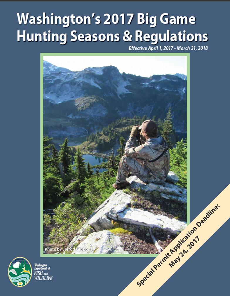 Washington 39 s 2017 hunting regulations pamphlet posted for Washington fishing license cost 2017