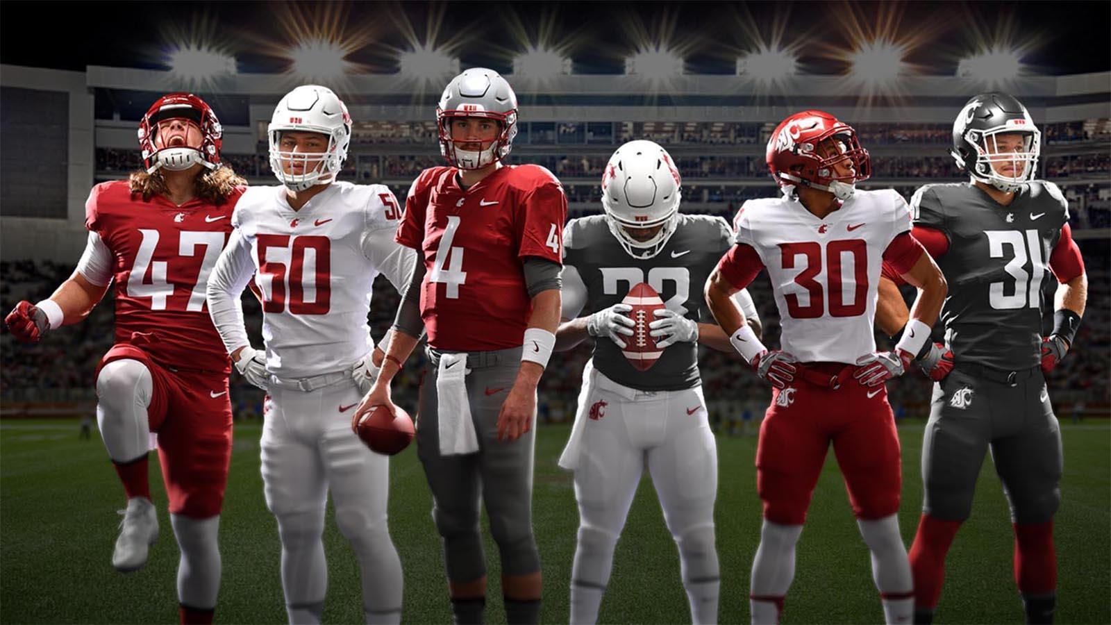 On Wednesday, Washington State unveiled its uniform combinations for the upcoming football season. (