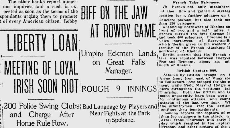 100 years ago in Spokane: Police called to break up near riot at