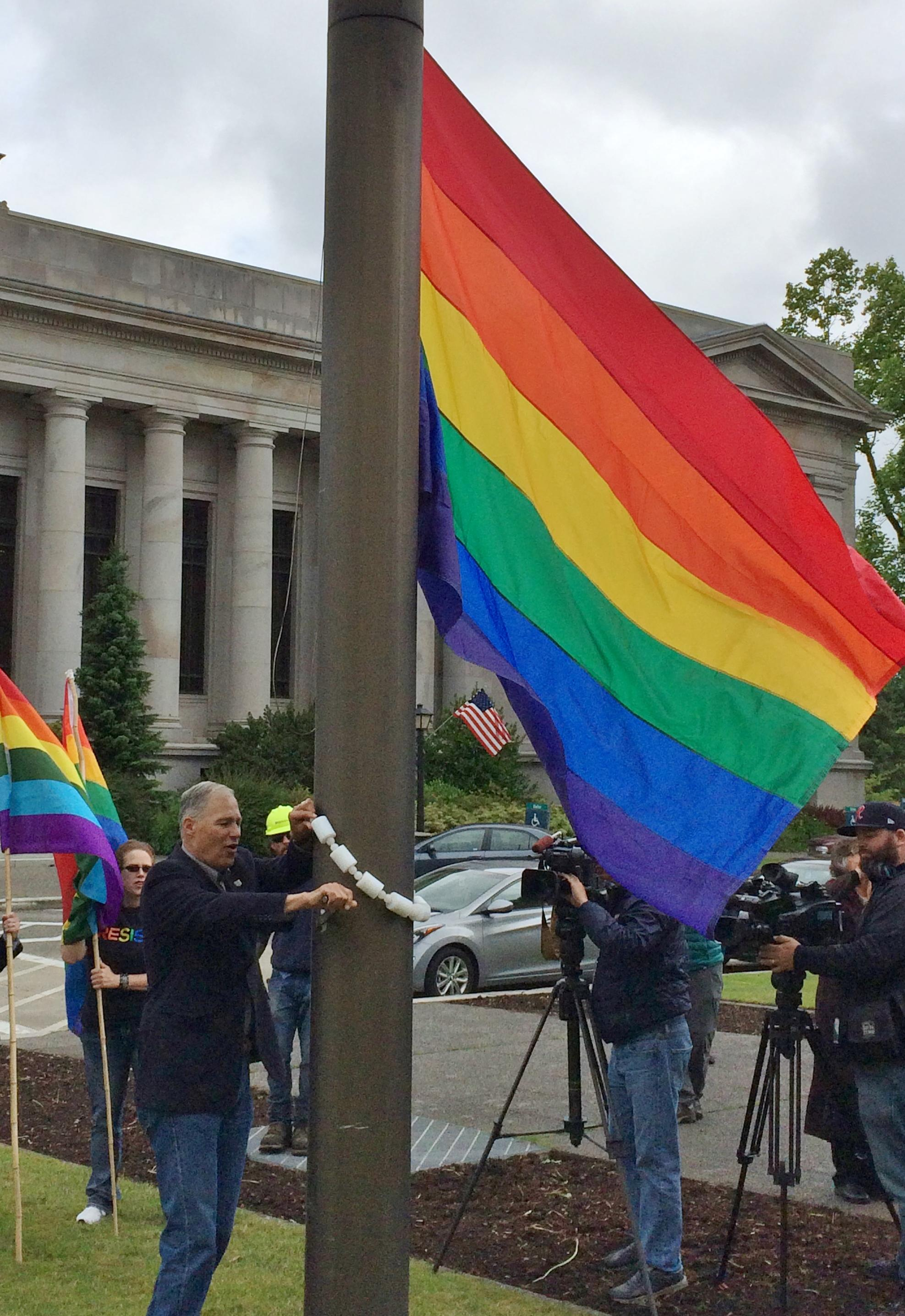 Rainbow Flag Raised Over Capitol The Spokesman Review