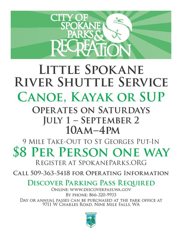 Little Spokane River Paddler Shuttle Service Starts Saturday The