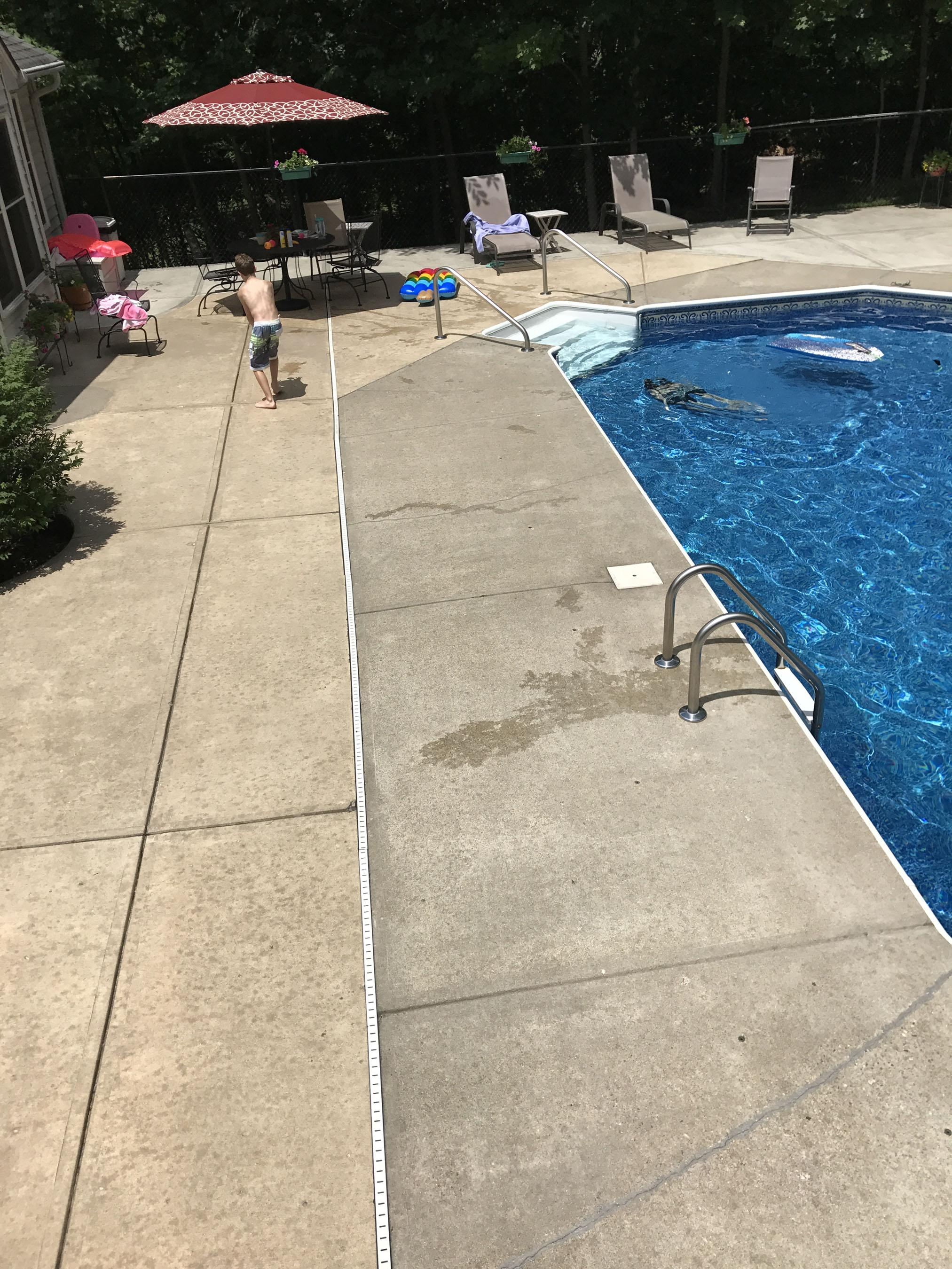 The Concrete Around This Swimming Pool Is Two Different Shades. There Are  Several Ways To