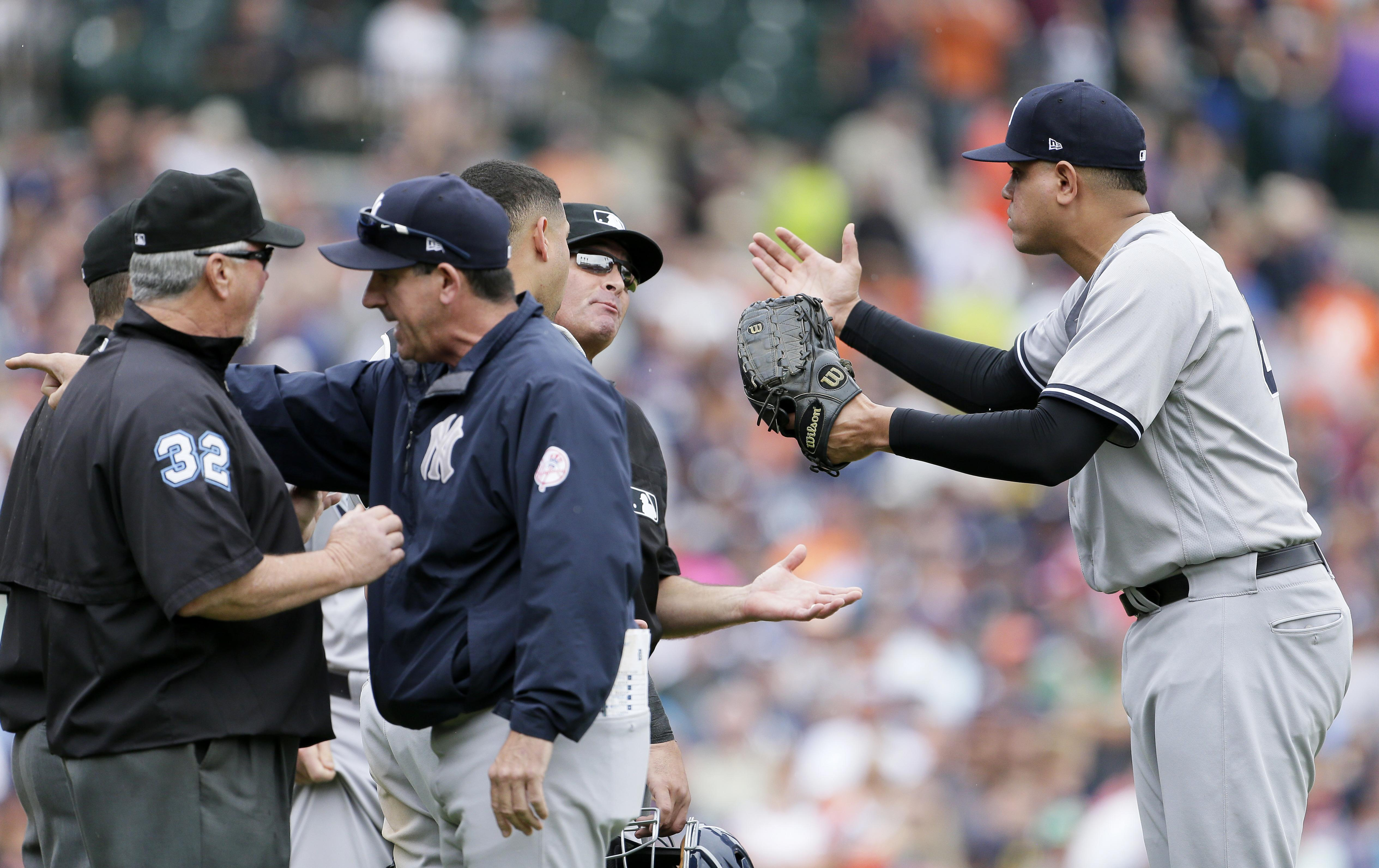 836b40e20b9 MLB Baseball  Tigers prevail after brawl with Yankees