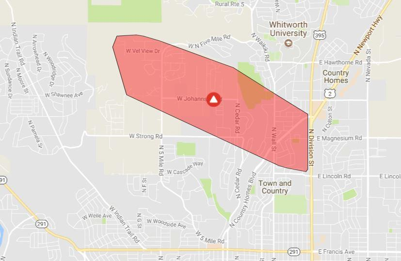 1 400 Avista Customers Lose Power In Northwest Spokane The