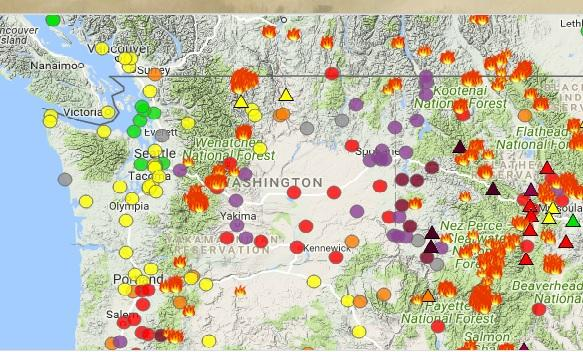 Washington S Air Quality Map Crashed This Morning Because Of High