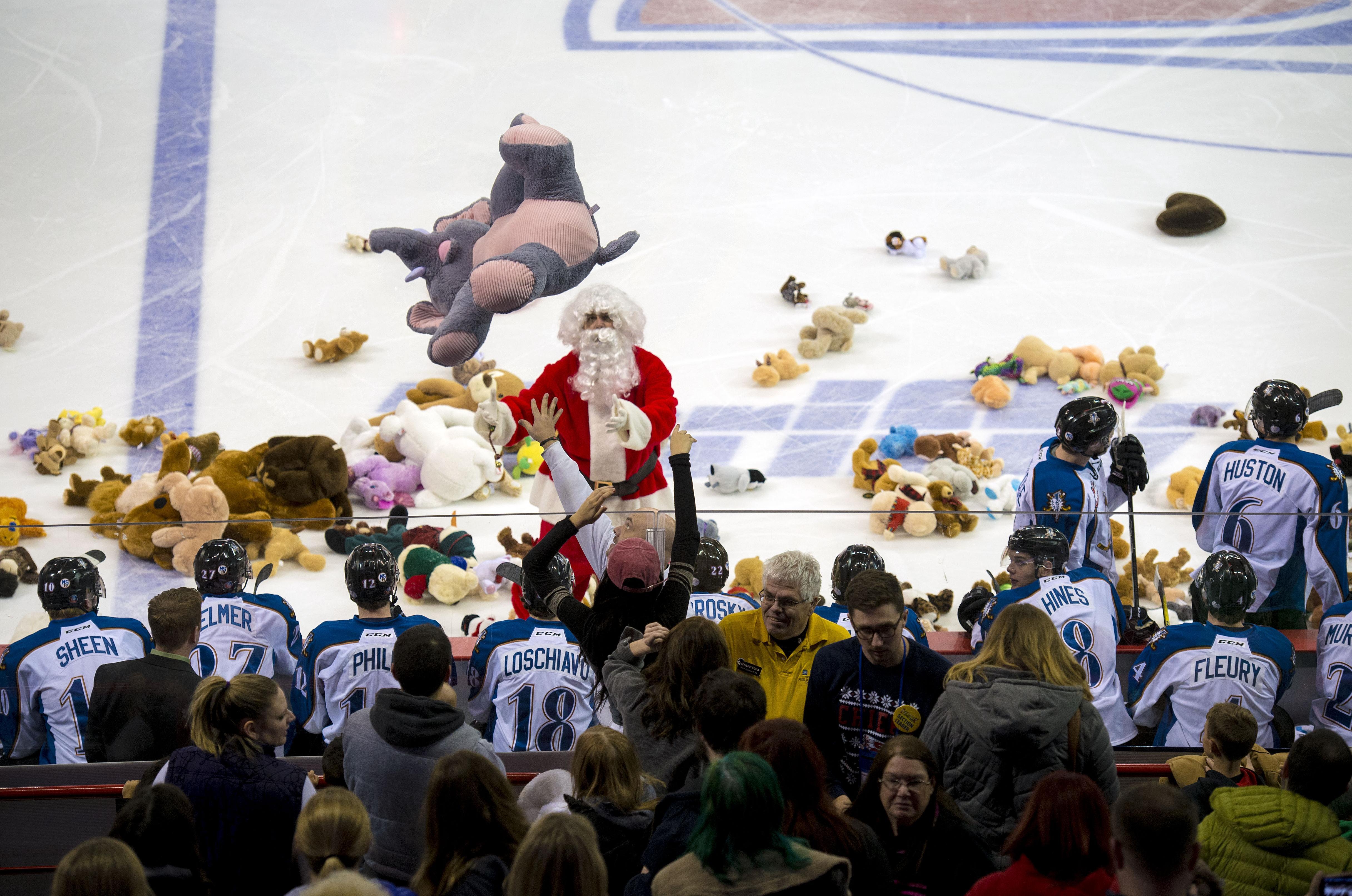 83259e09e The annual Teddy Bear Toss returns to the Spokane Arena on Dec. 9 when the