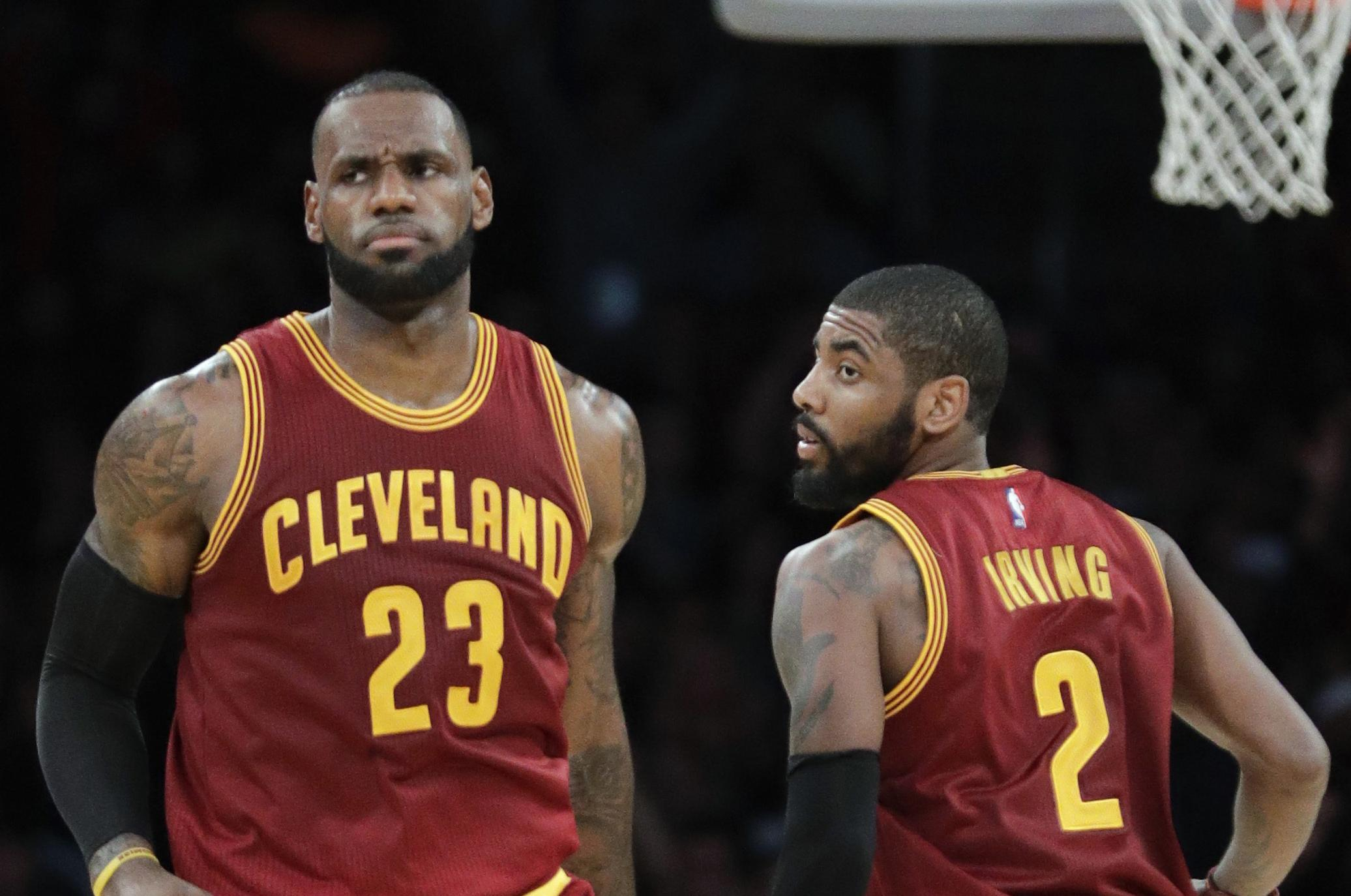 c8dc4e13933a LeBron James vs. Kyrie Irving the latest entry in NBA rivalries ...