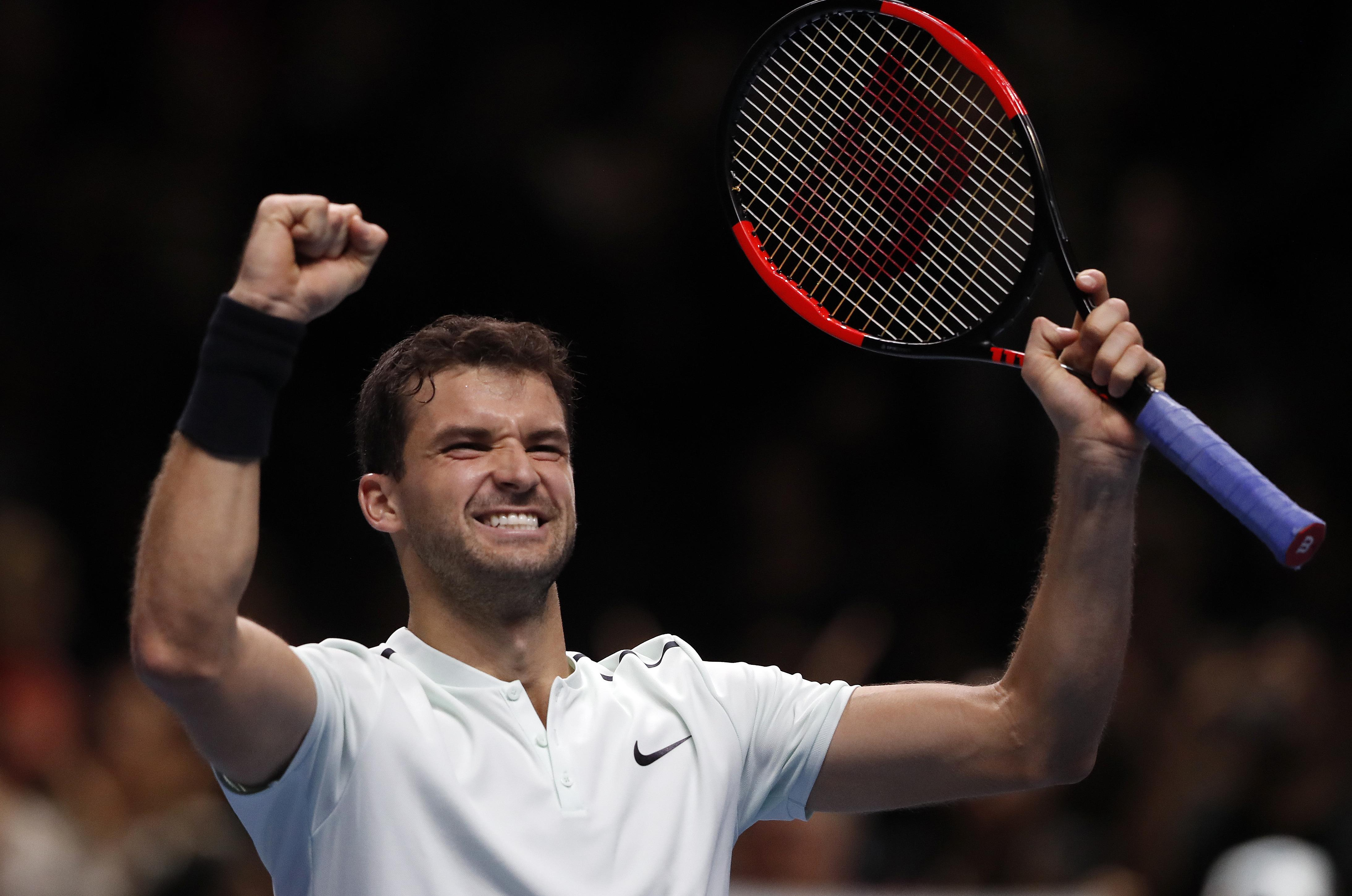 Grigor Dimitrov reaches semifinals at ATP Finals, beats