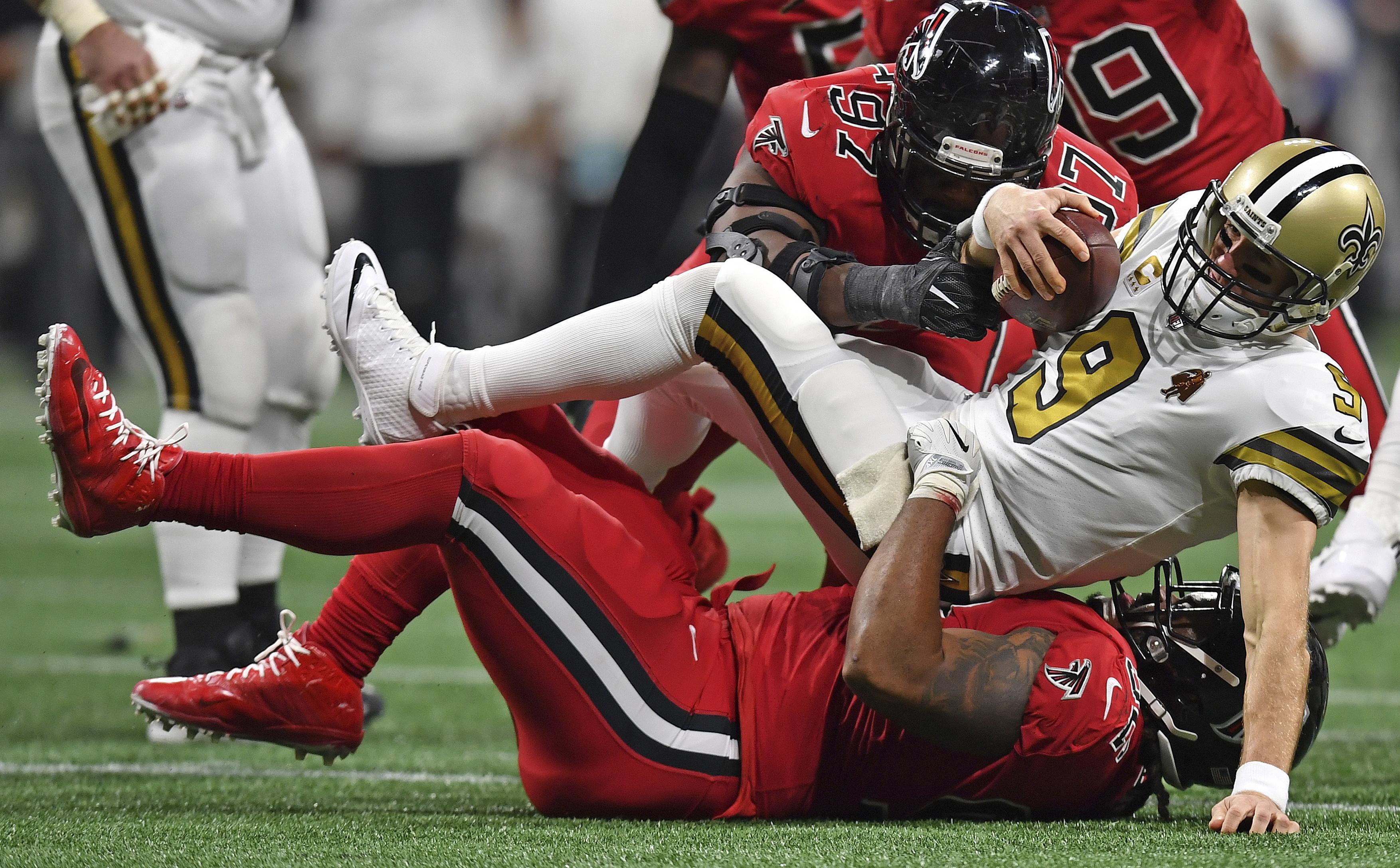 Deion Jones makes game saving interception Falcons beats Saints 20