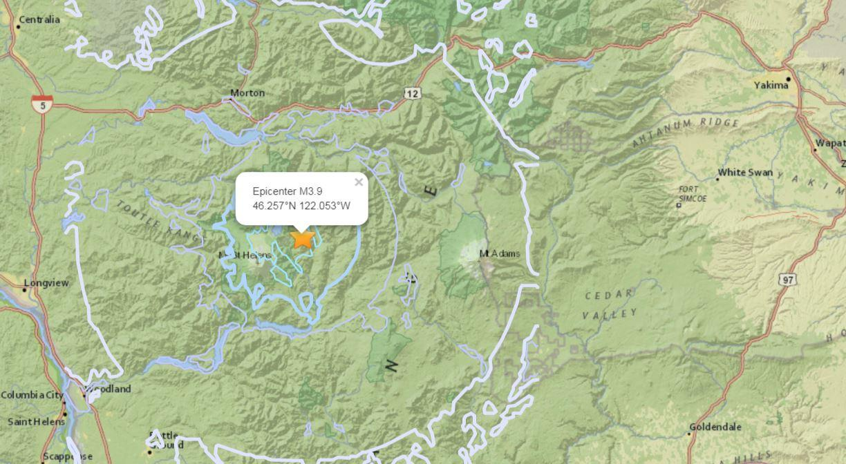 Cluster Of Earthquakes Near Mount St Helens Felt Throughout Region