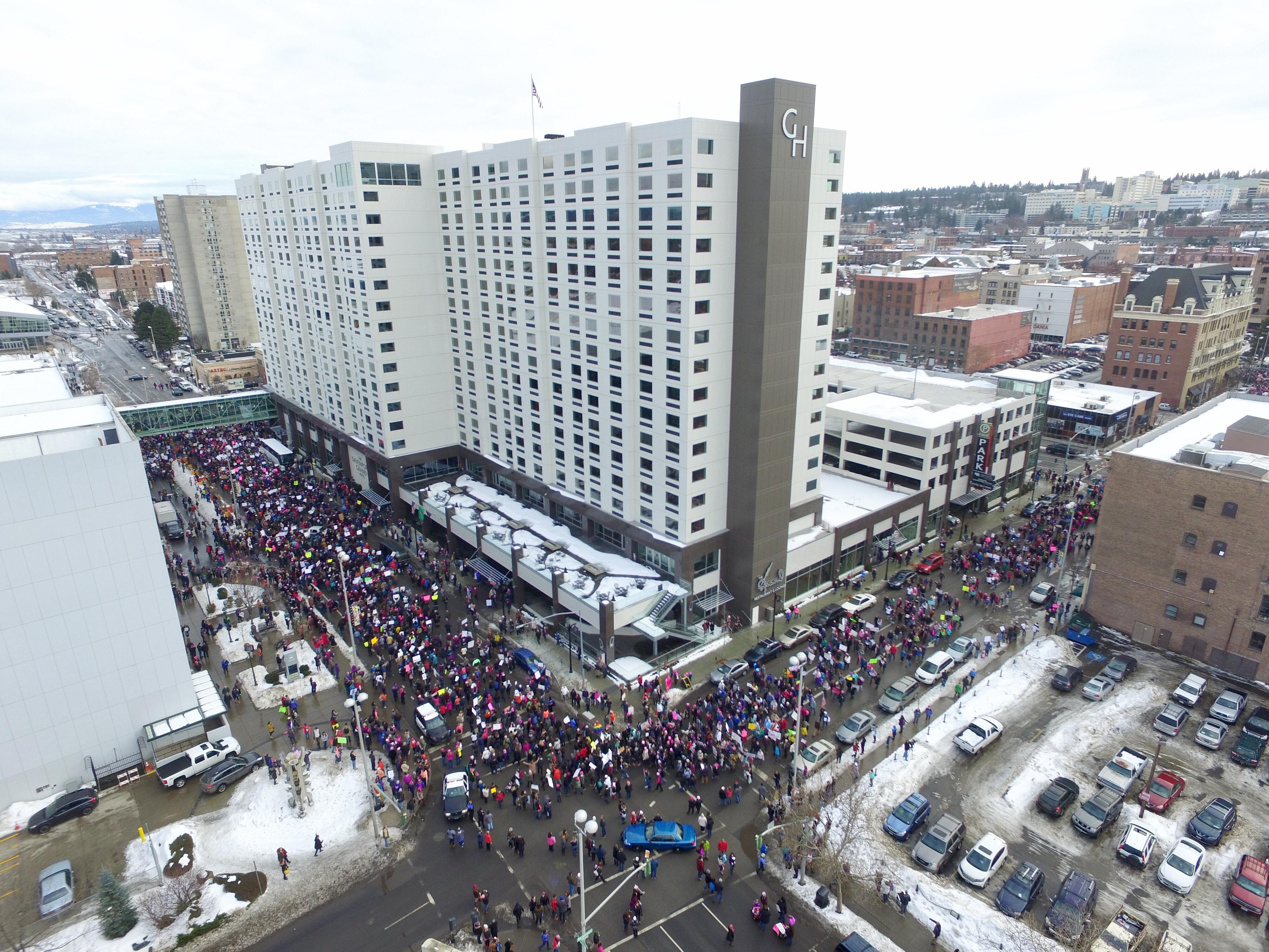 women s march aims to draw thousands to downtown spokane on sunday