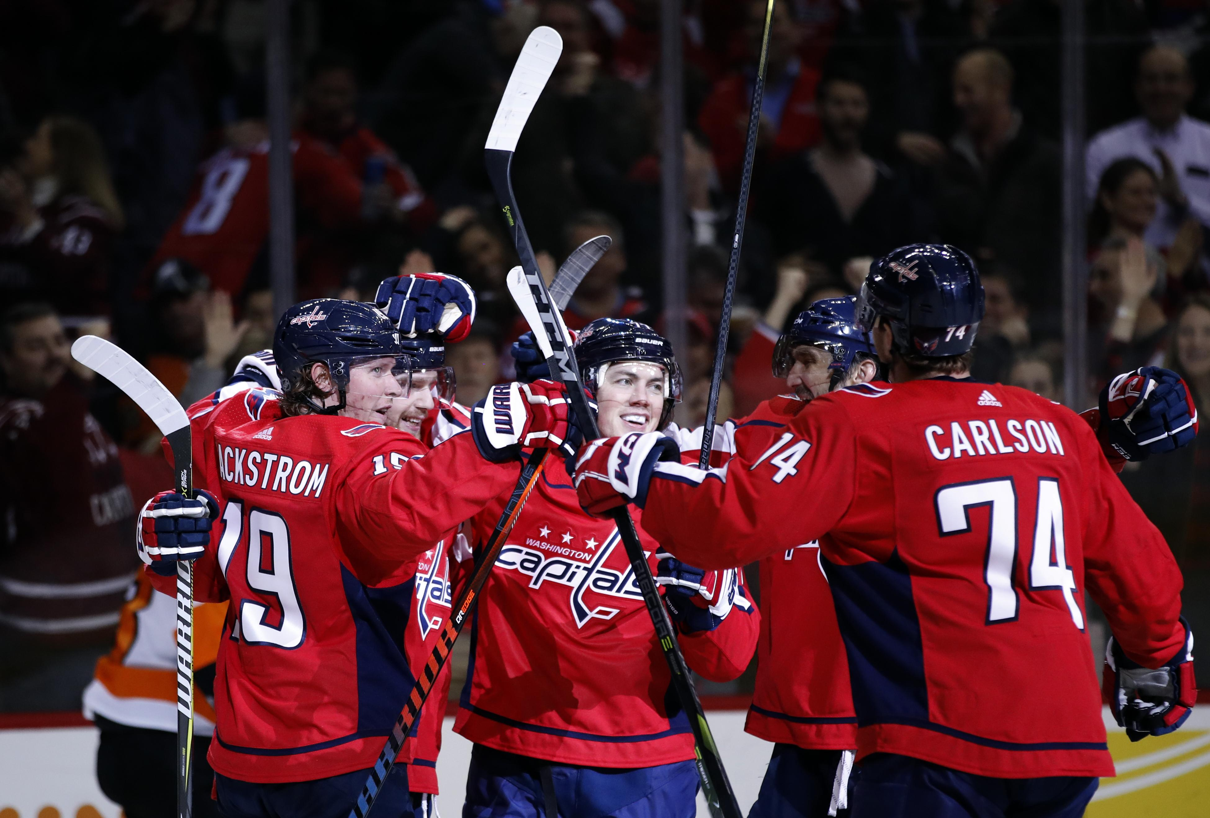 the latest a4062 6a333 NHL Capsules: Capitals rally past Flyers 5-3 | The Spokesman ...