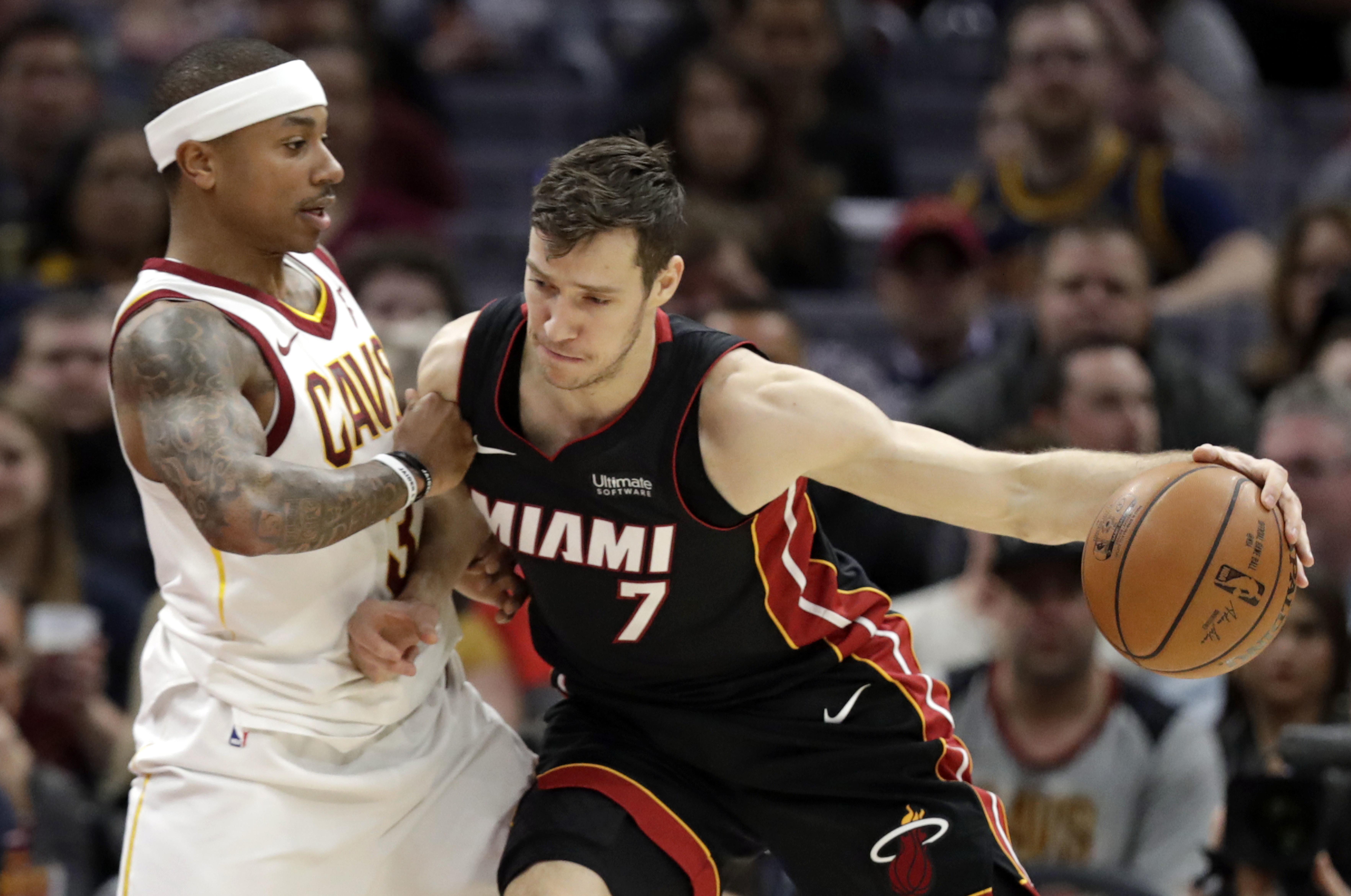 089da7c0e Miami Heat guard Goran Dragic (7) drives past the Cleveland Cavaliers   Isaiah Thomas