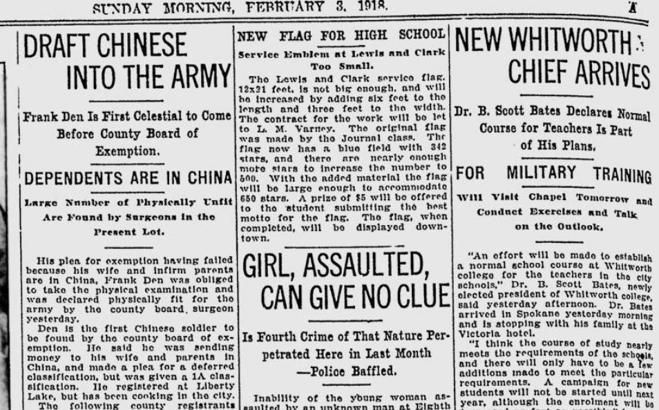 100 years ago in Liberty Lake: First Chinese resident in