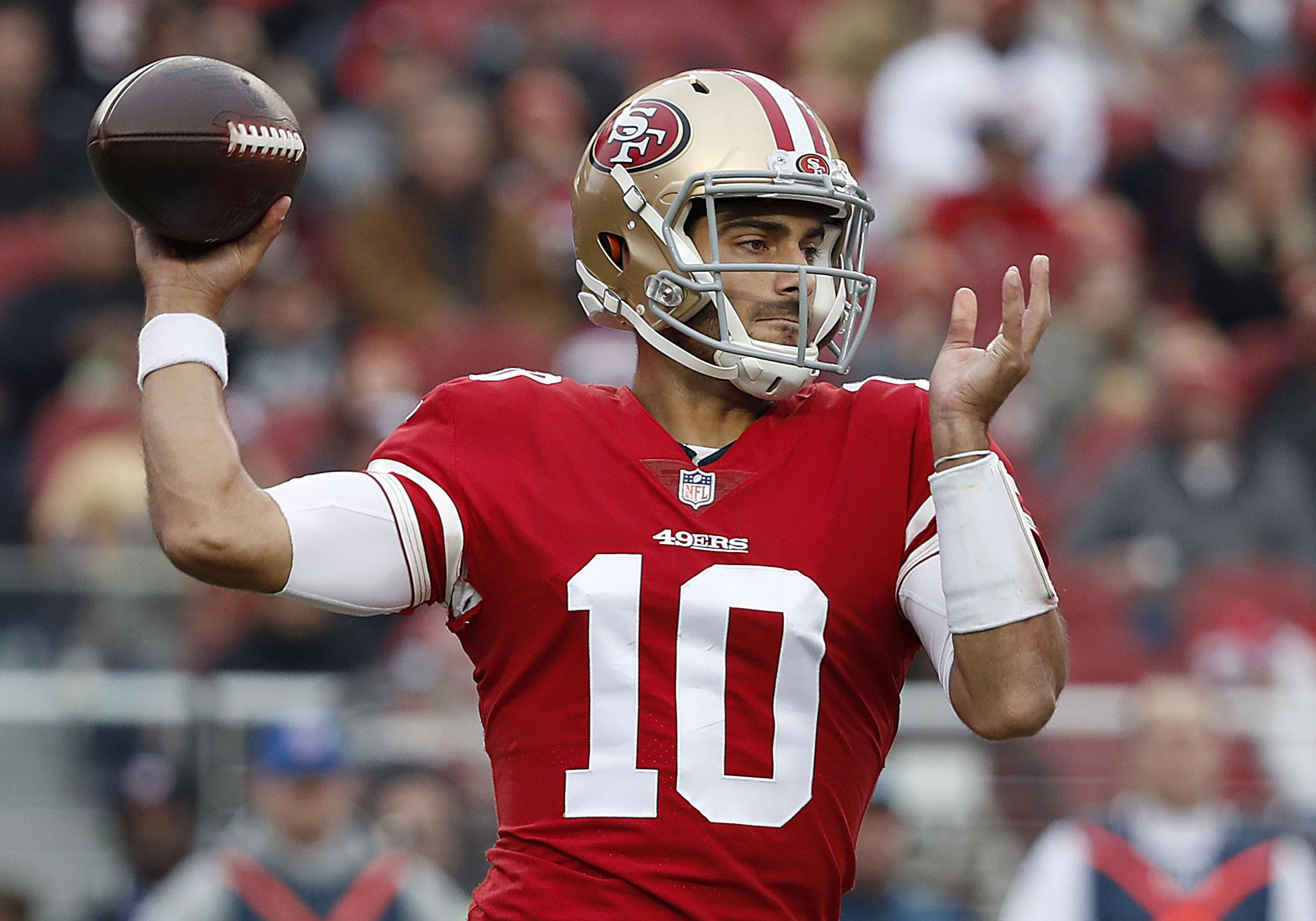 official photos e44ca ceae1 San Francisco 49ers sign QB Jimmy Garoppolo to 5-year deal ...