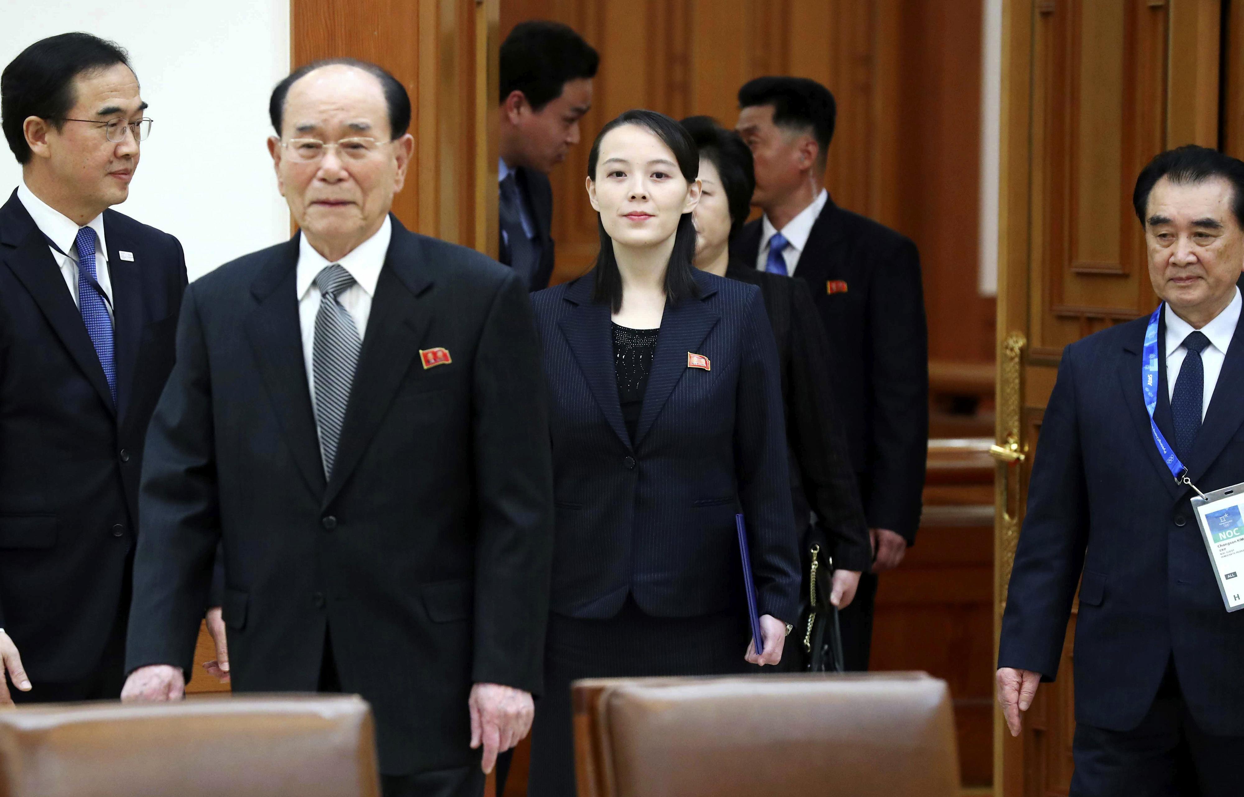 S. Korean president hosts lunch for Kim Jong Un's sister ...