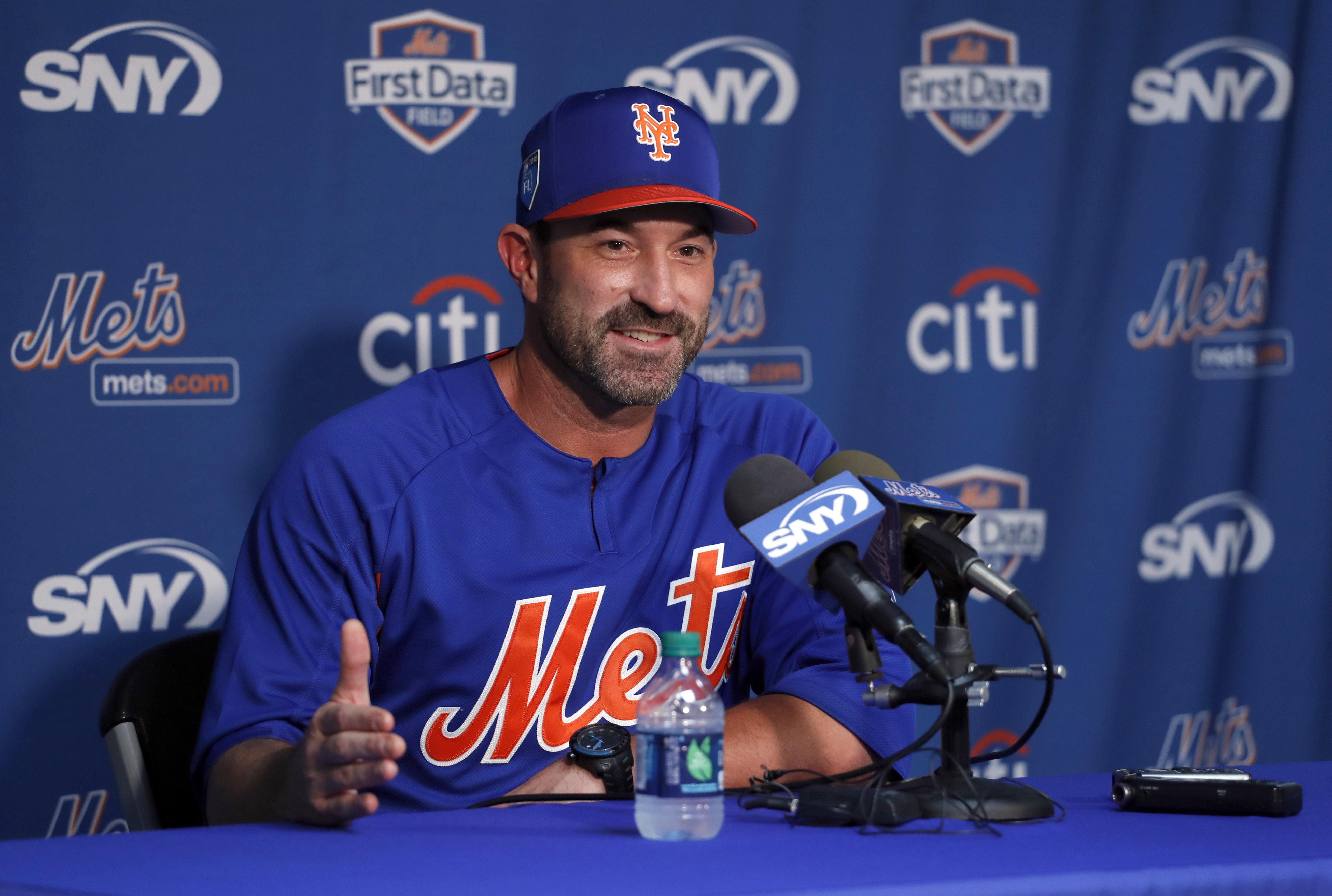 ce840b2d570 New York Mets manager Mickey Callaway speaks during a news conference ahead  of the official start