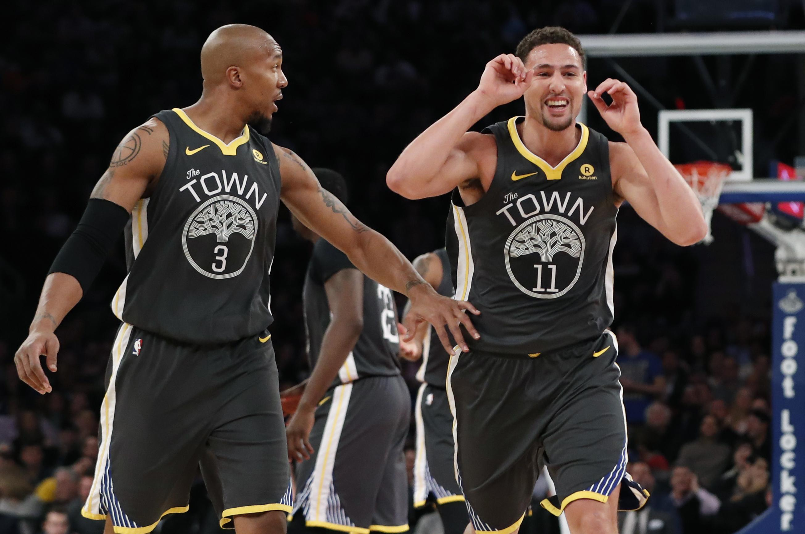 92c5382849a NBA roundup  Klay Thompson sparks Warriors past Knicks