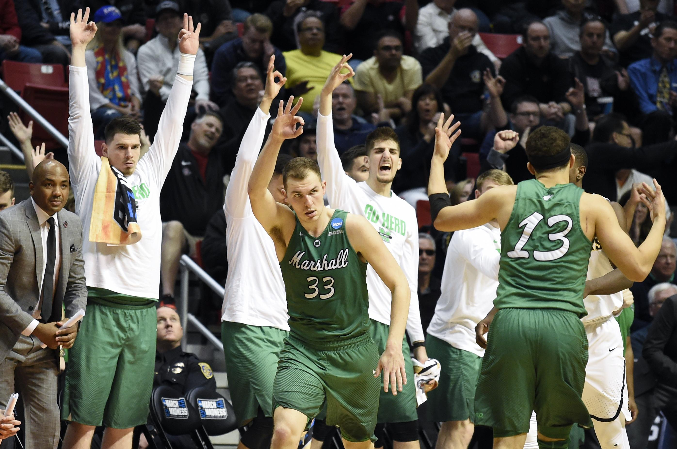 Elmore's 27 lead 13th-seeded Marshall over Wichita St 81 ...