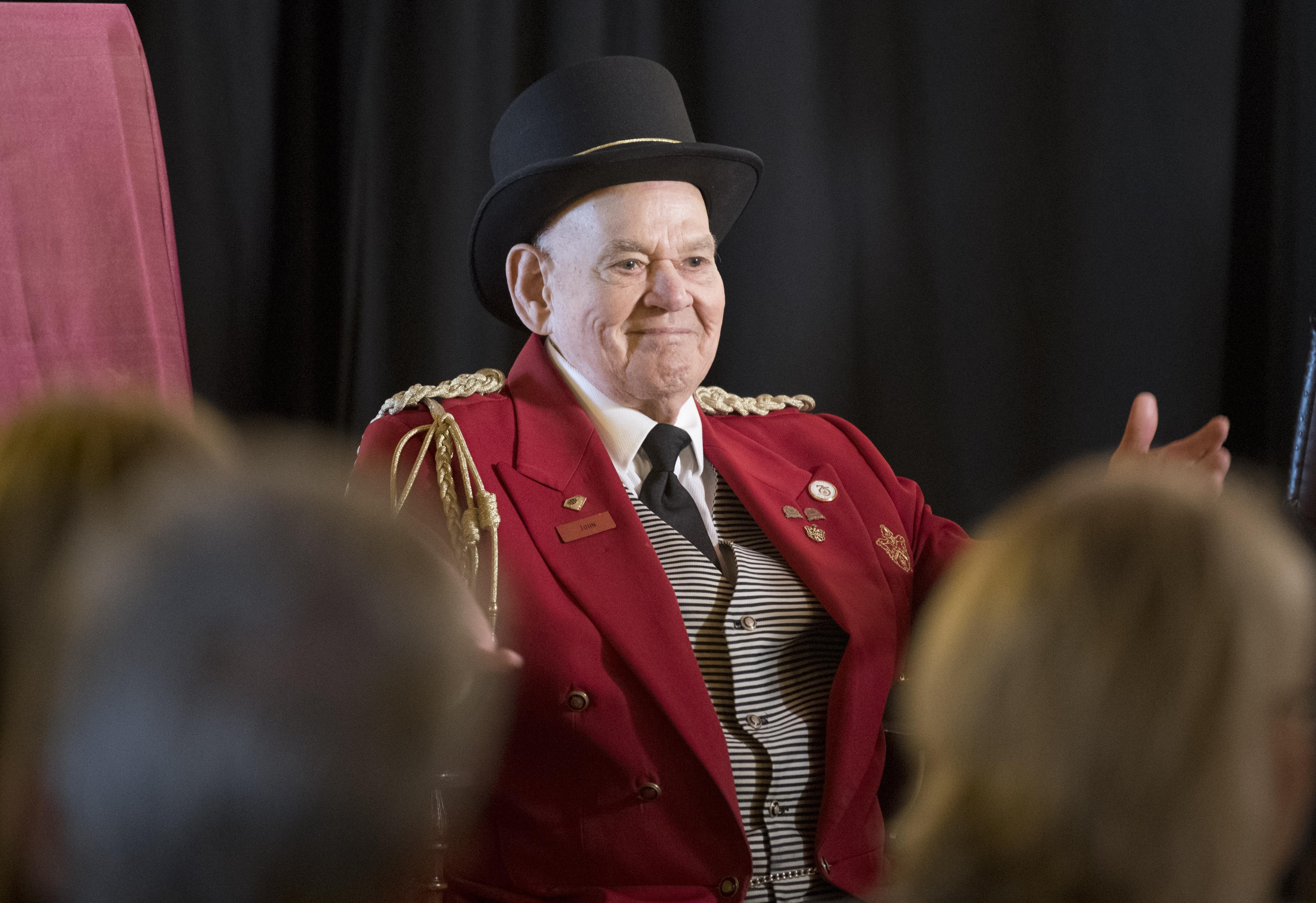 FILE - John Reed the Davenport Hotel door man who was hired by Louis Davenport  sc 1 st  The Spokesman-Review & Davenport Hotel doorman John Reed dies after 75-year career | The ...
