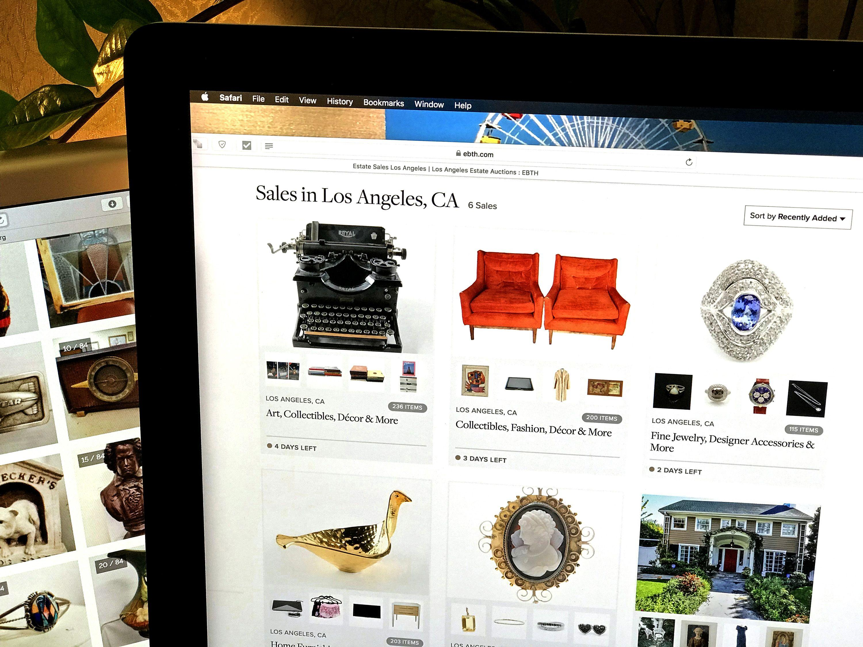Online Estate Sale Company Everything But The House, As Seen On An IMac. (