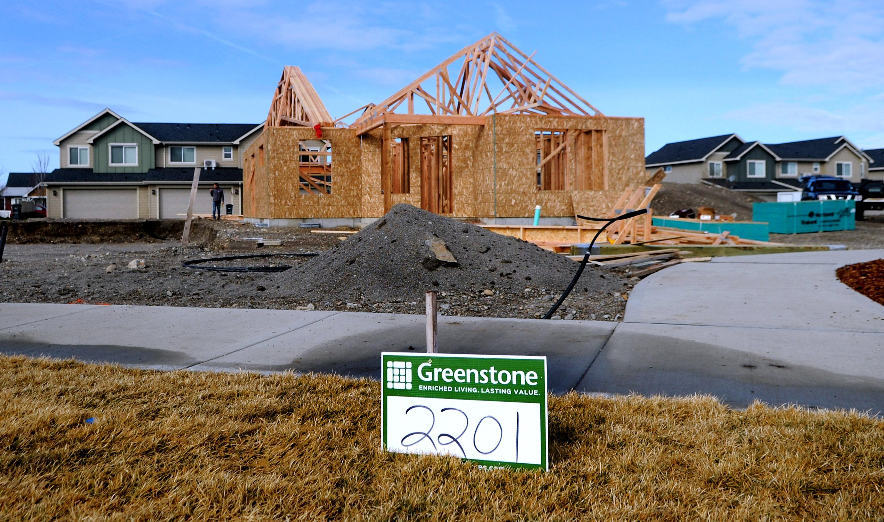 A Greenstone Homes House Home Is Under Construction In Liberty Lake On Monday April 9