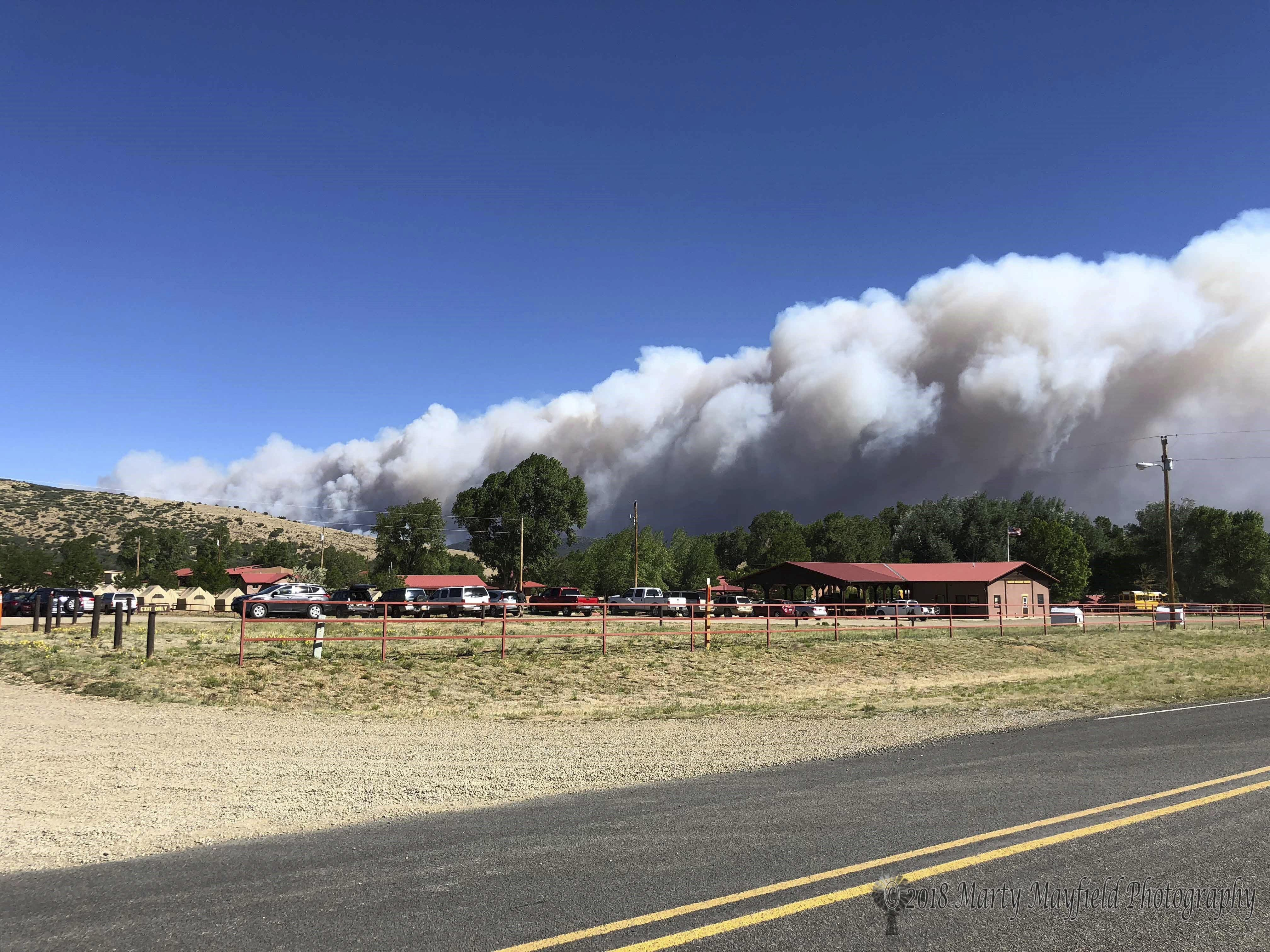 Wildfire burns empty Boy Scouts\' buildings in dry New Mexico ...