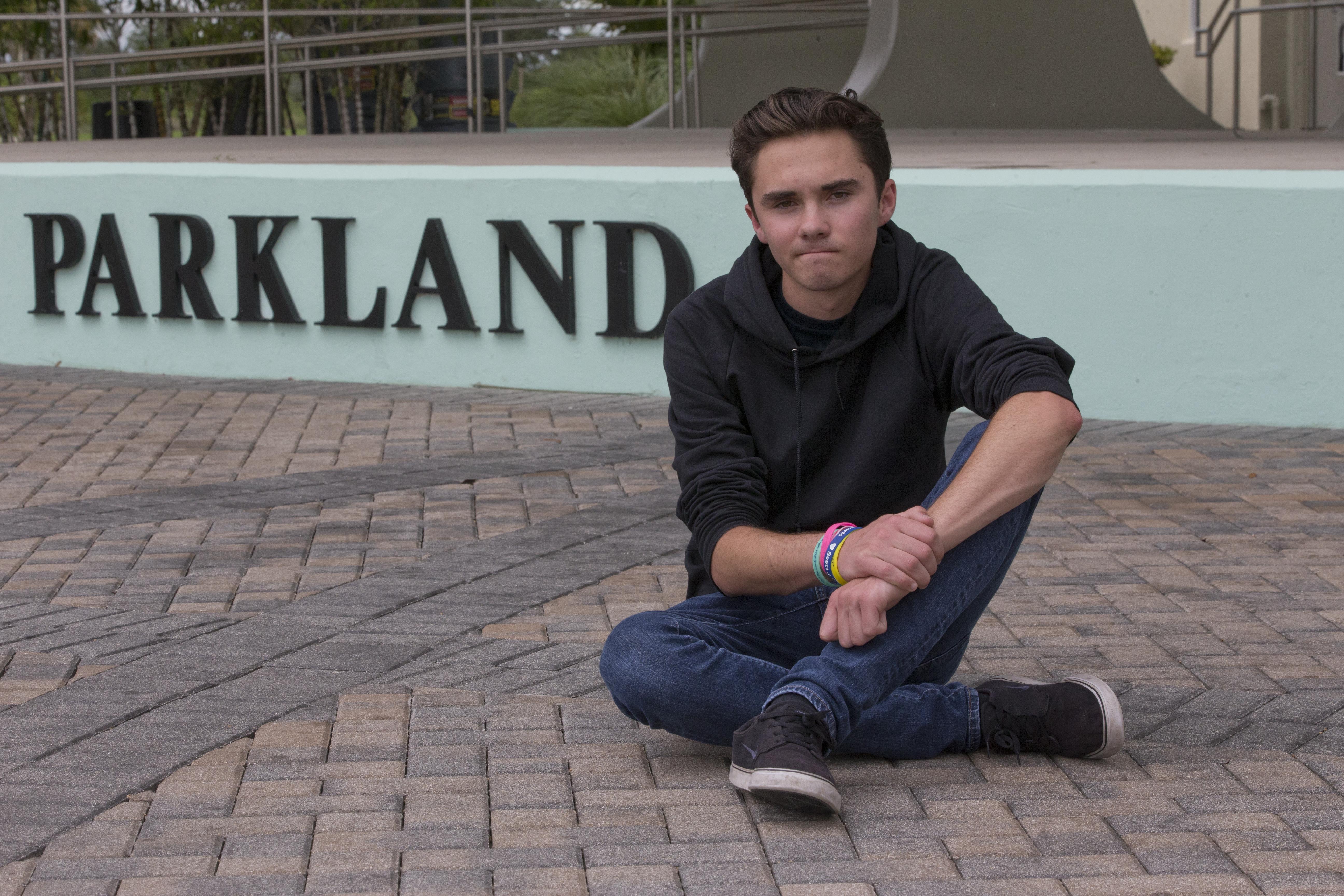 swat swarms home of parkland student activist david hogg after a