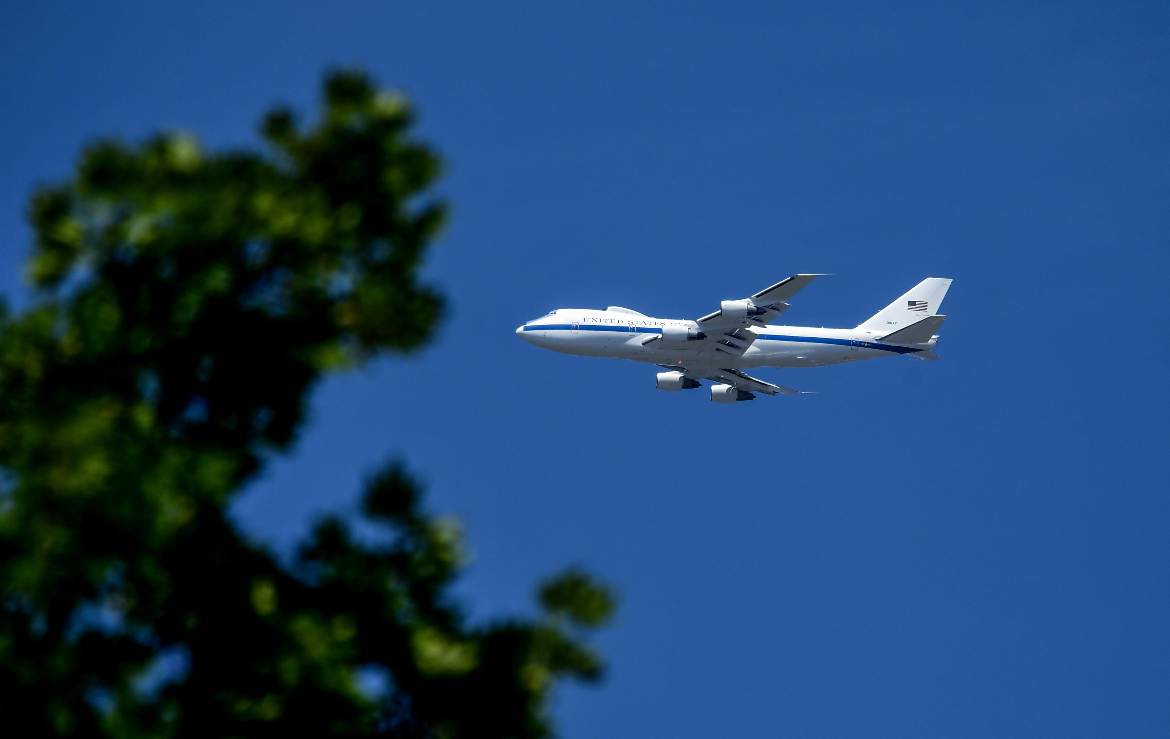 doomsday plane that follows president arrives at fairchild the
