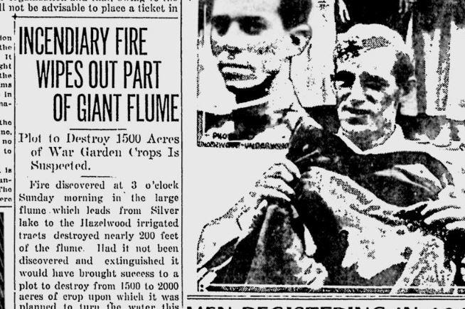 100 years ago: Speculation of foul play after fire destroys