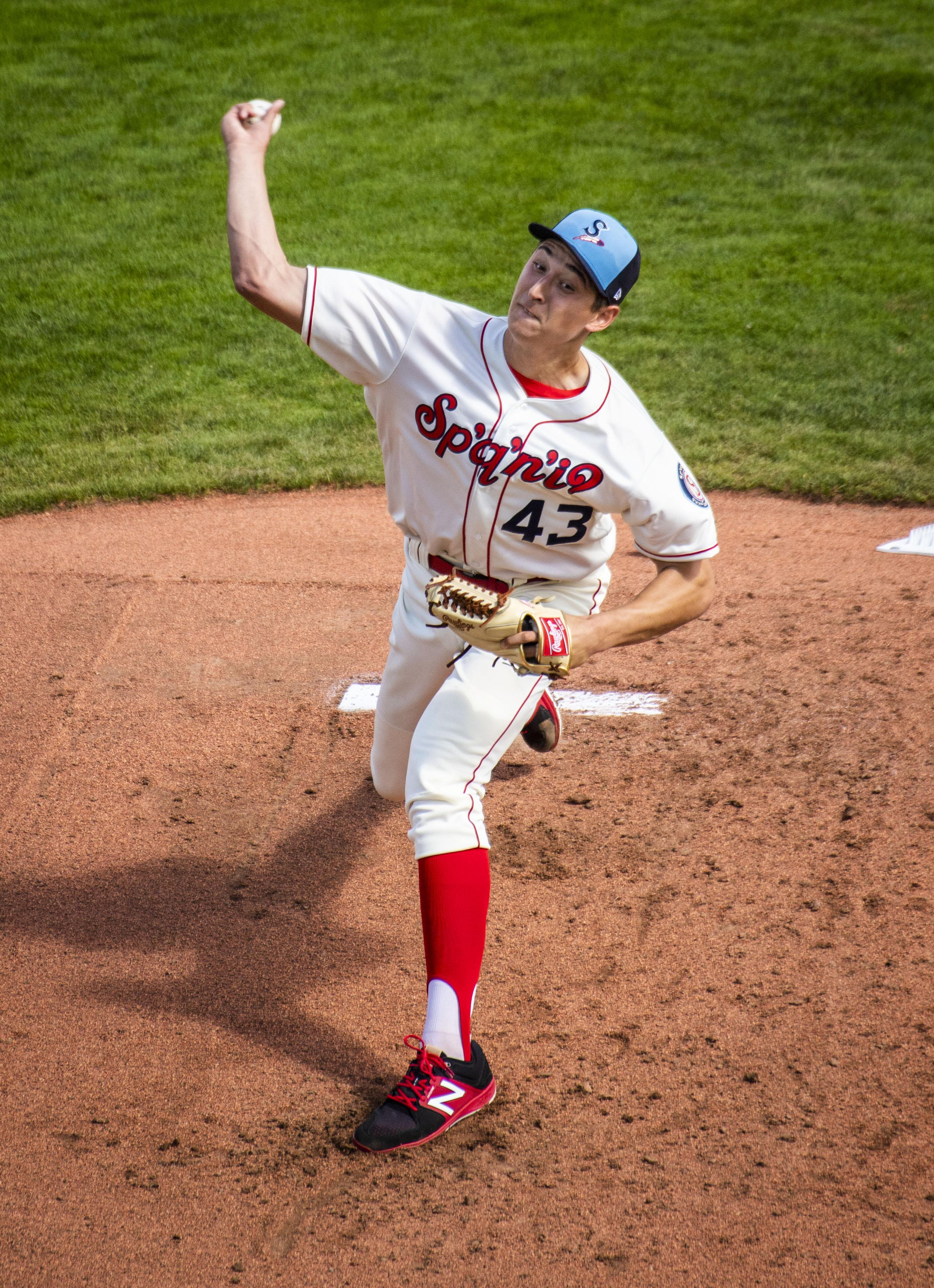 Spokane Indians Starter Tai Tiedemann Proud To Pitch On Father S Day The Spokesman Review