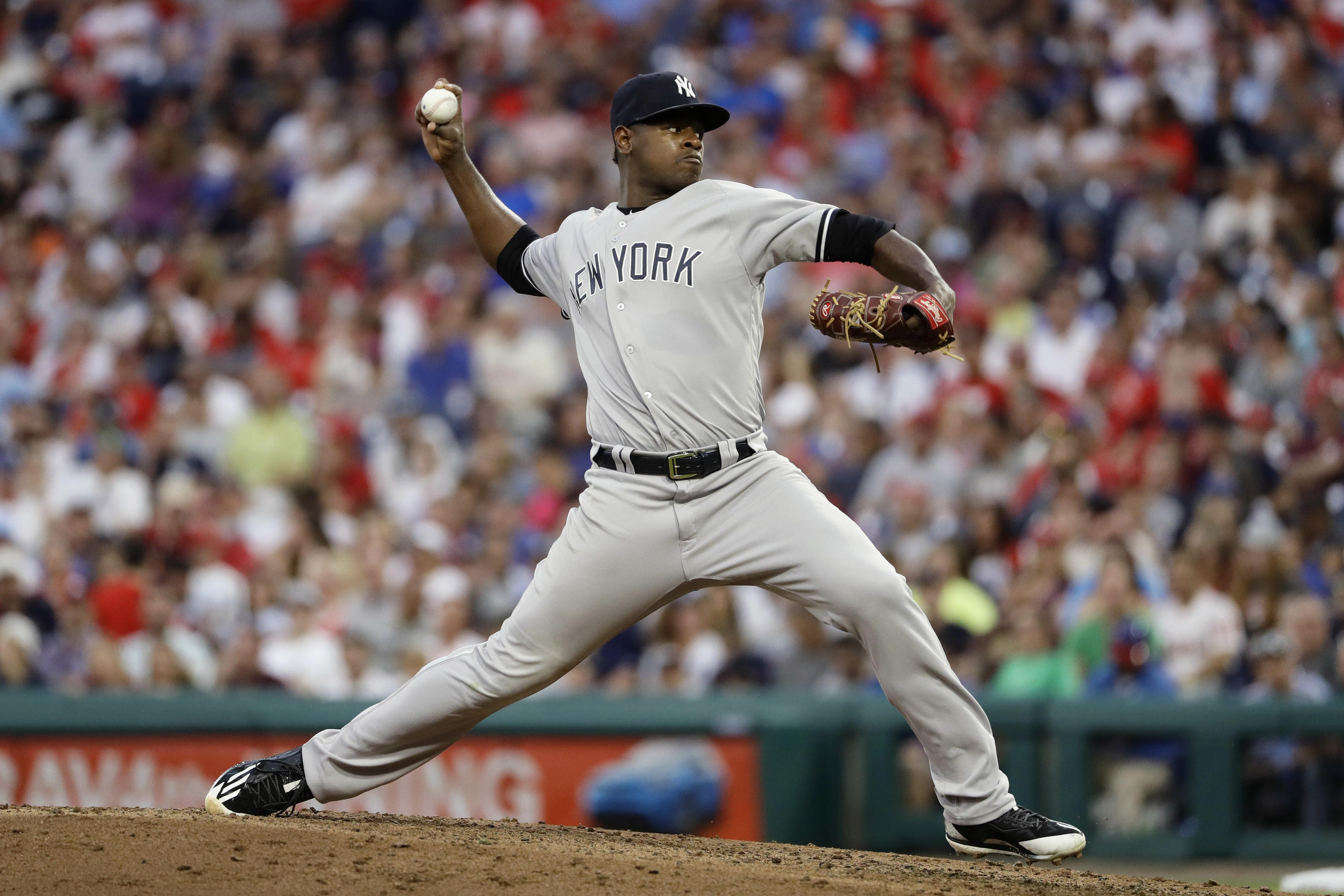 151eb1953aa5 New York Yankees  Luis Severino pitches during the fourth inning of the  team s baseball game