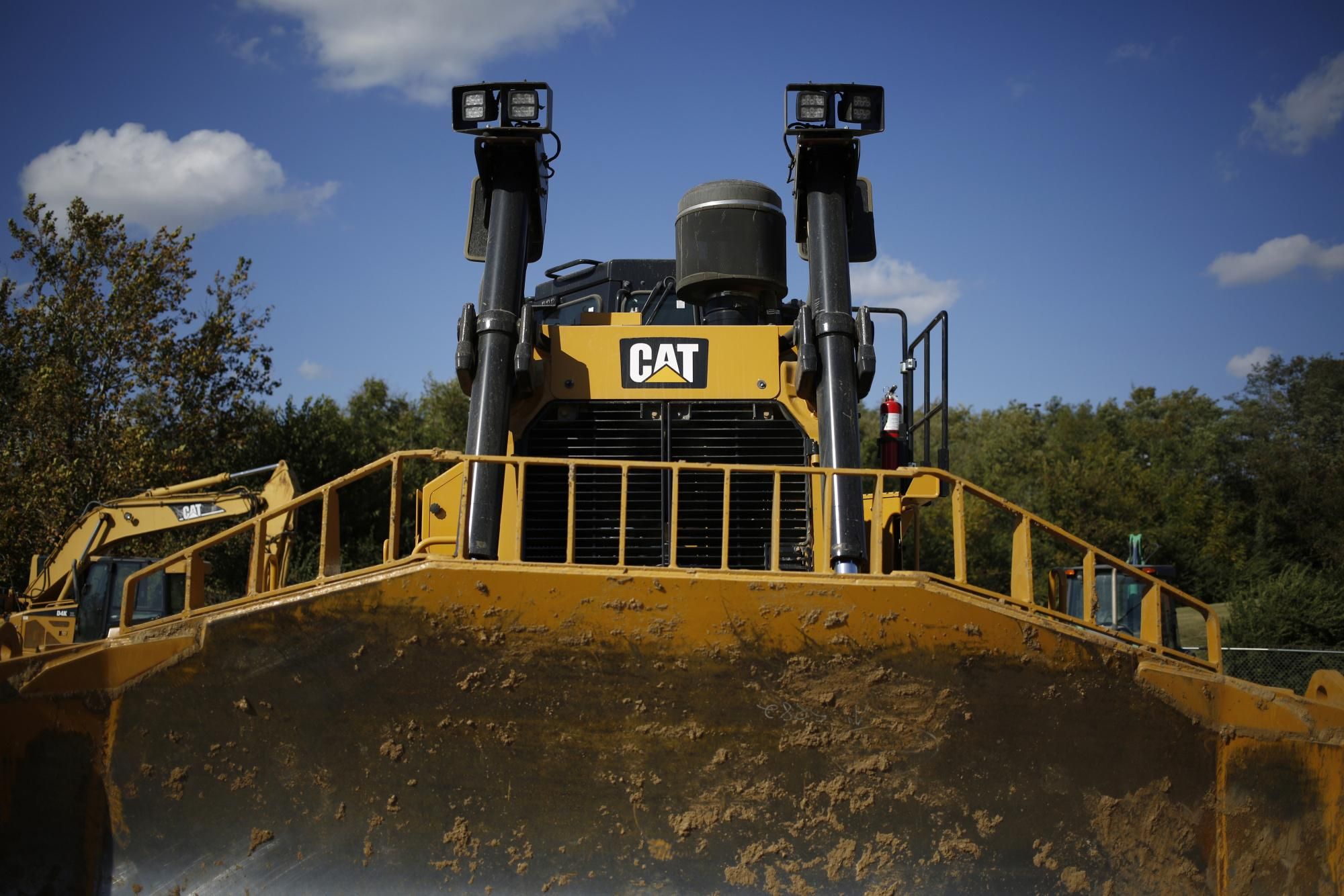 A Caterpillar Rental Bulldozer Sits At The Whayne Supply Co Dealership In Lexington Ky