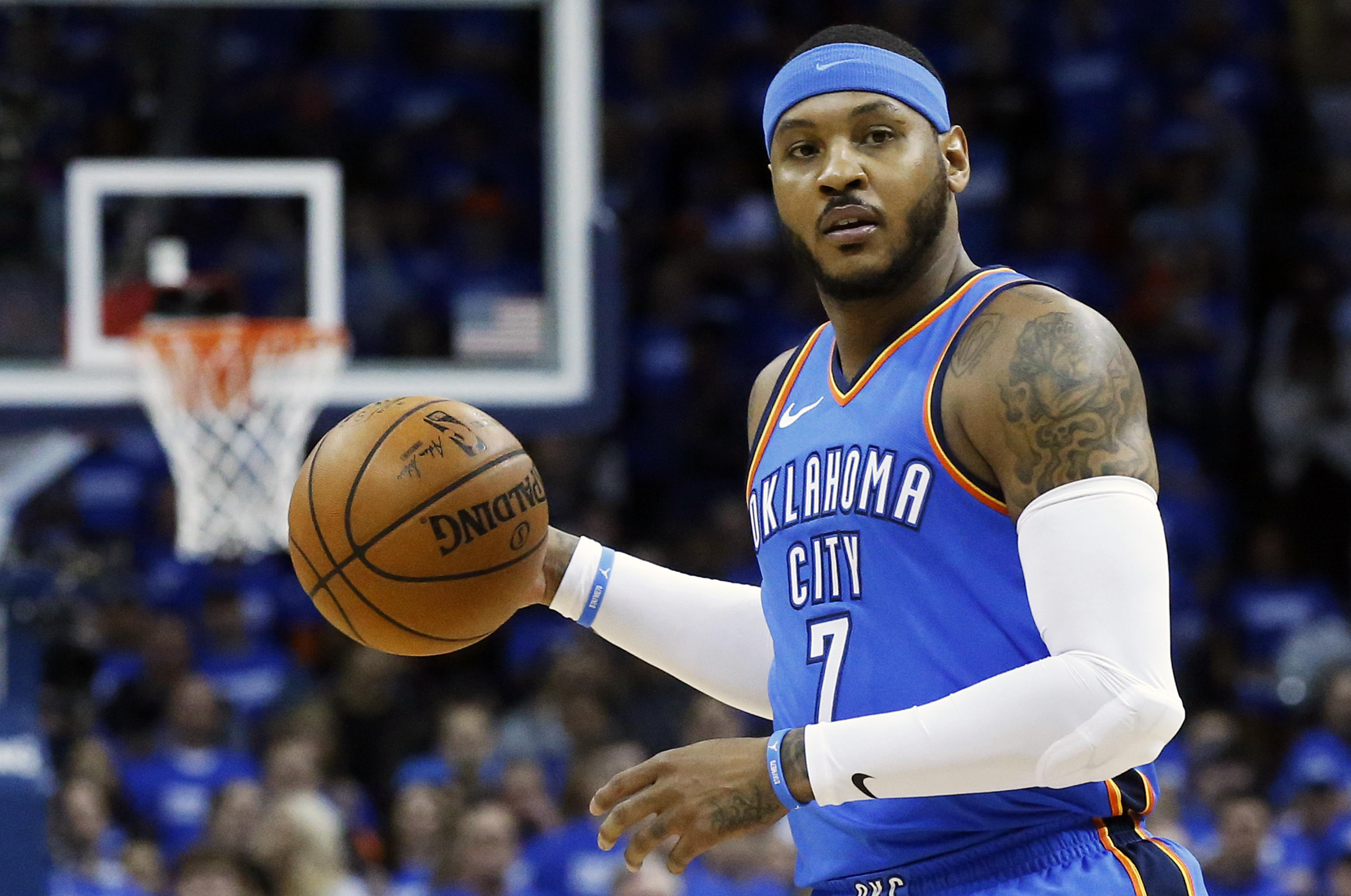 e5a1a9f7915 Carmelo Anthony has signed a one-year deal with the Houston Rockets. (Sue