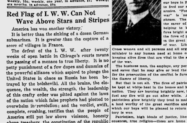 100 years ago in spokane editorial crows over wobblies courtroom rh spokesman com editorializing editorial cartoons