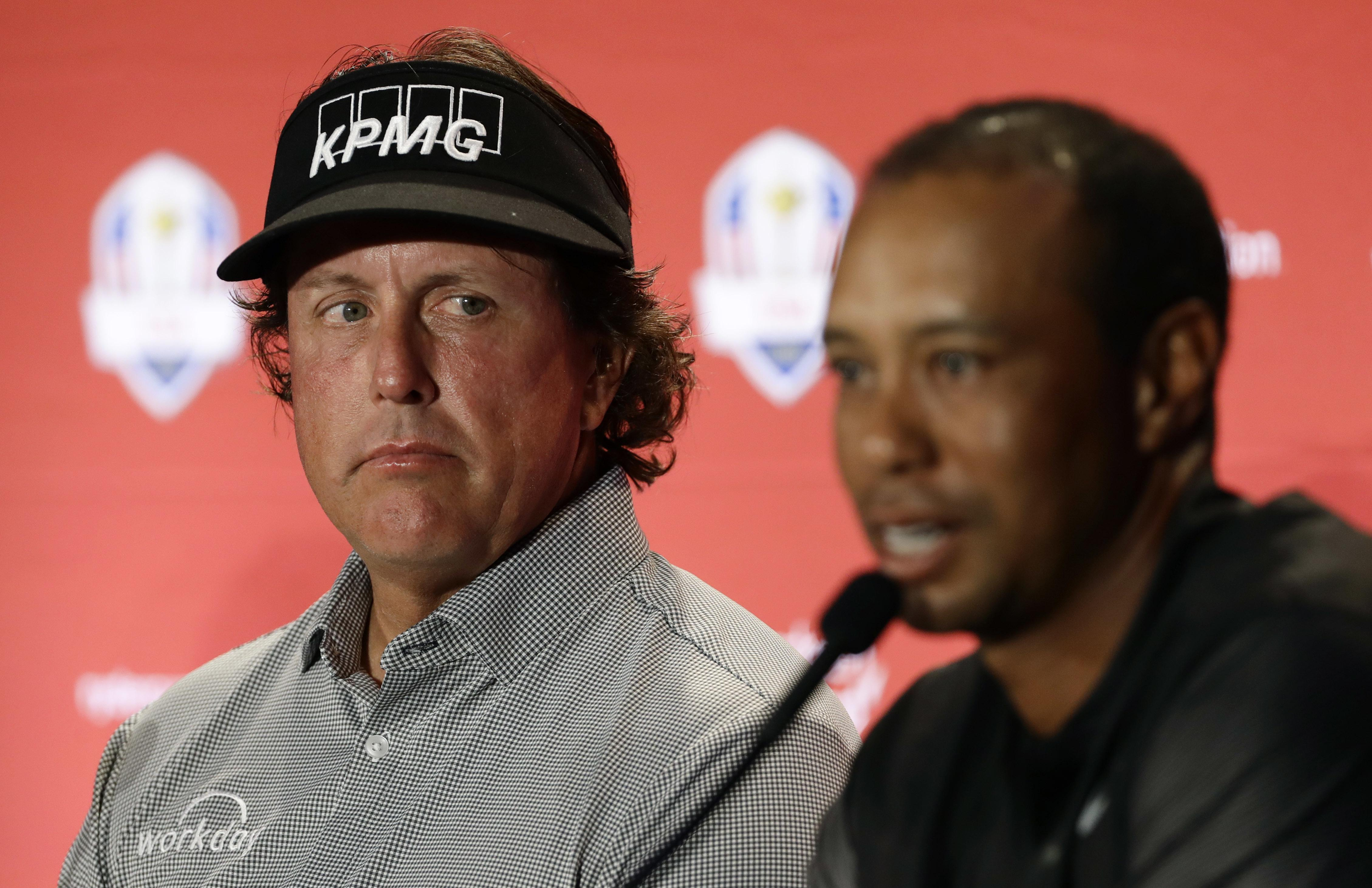 Image result for tiger woods phil mickelson