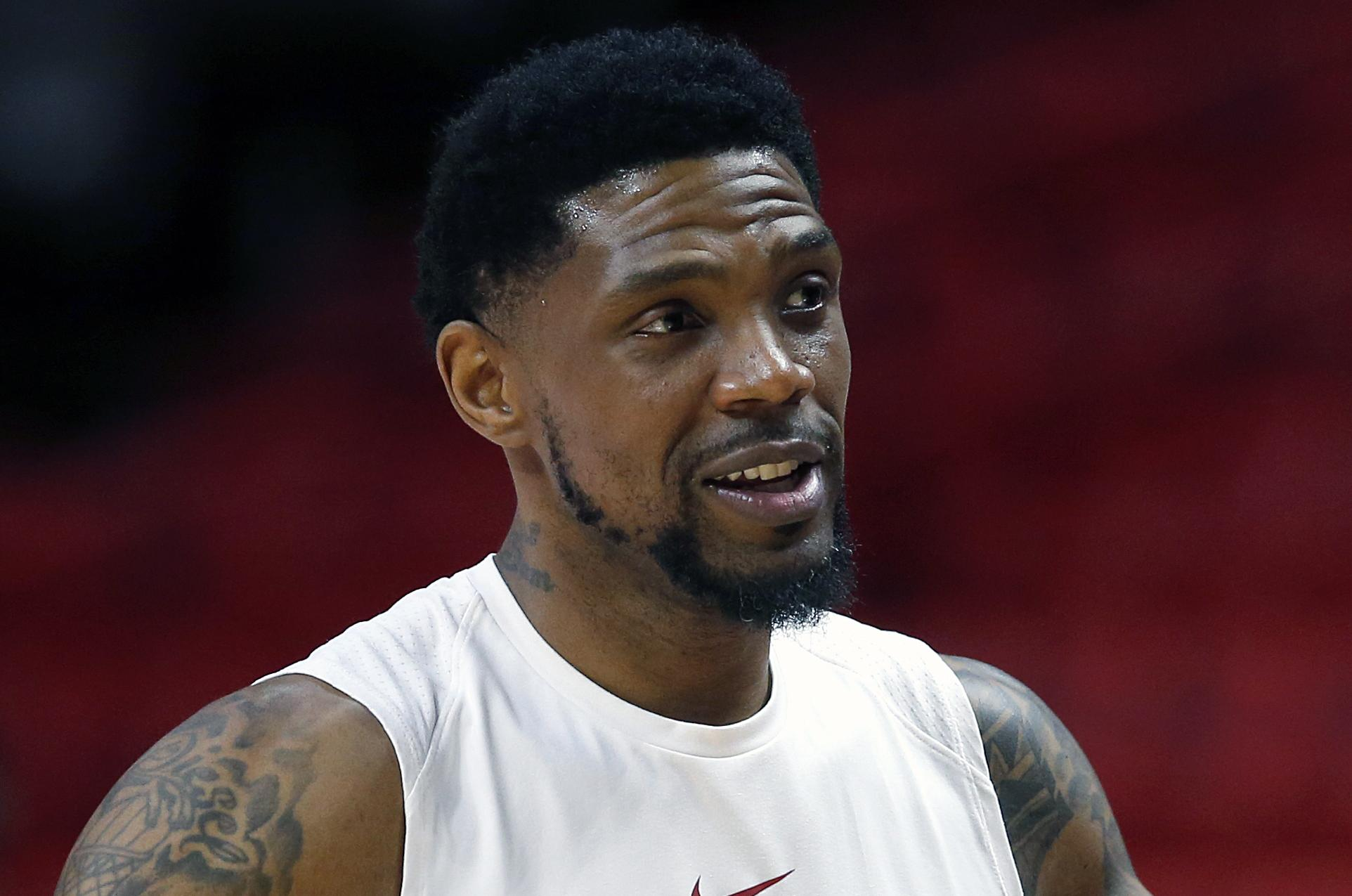 Heat Haslem Basketball Pinnukp In This March Unu File Photo Miami Forward Udonis Chats