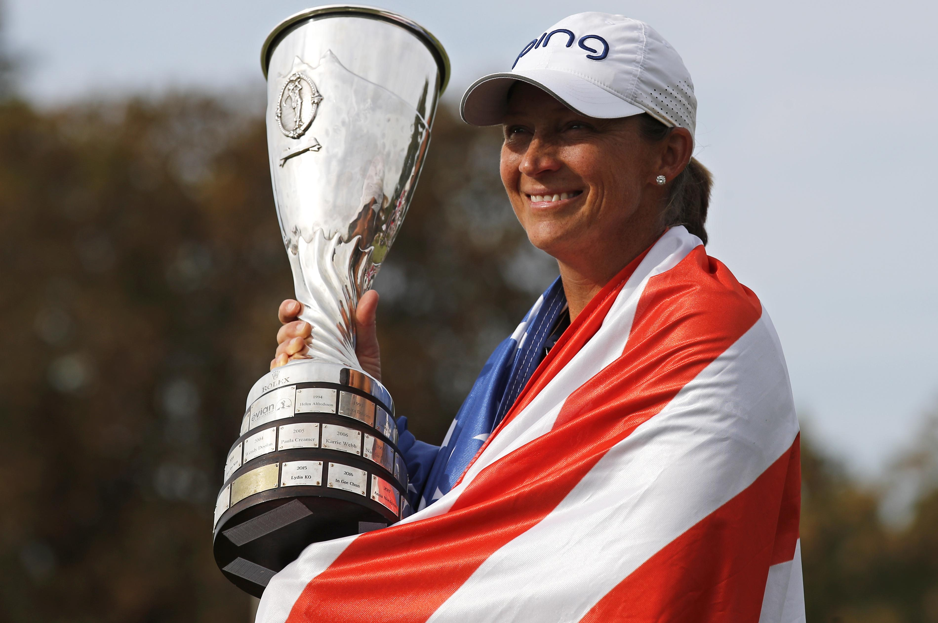 Image result for angela stanford wins the evian