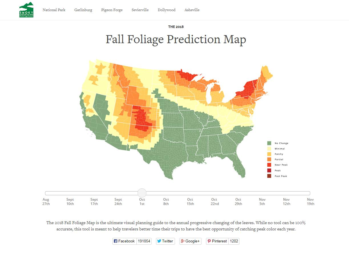 Online Map Of The United States.Follow Fall S Colors With This Online Map The Spokesman Review