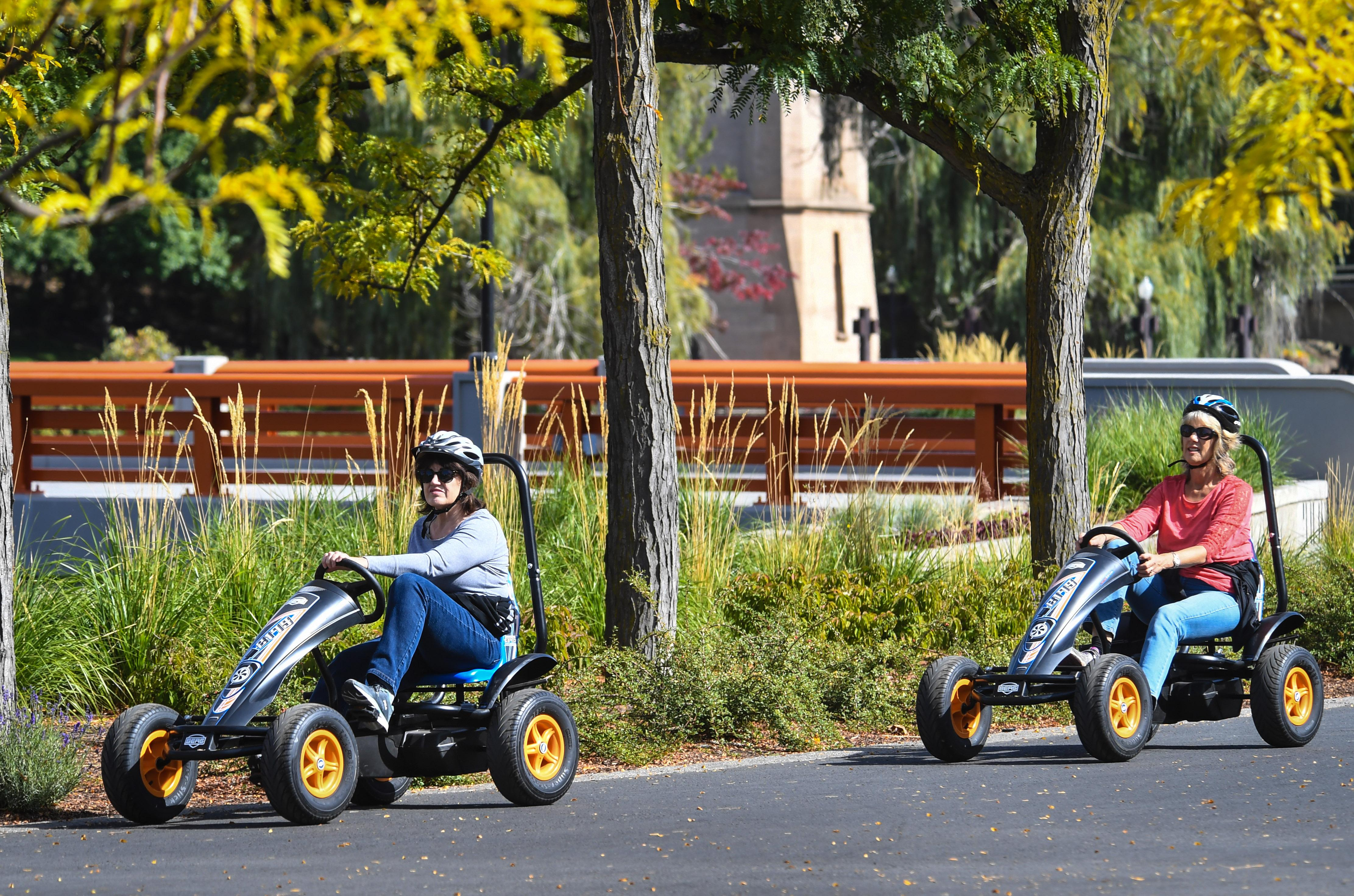 New 'pedal Cart' Rentals Appear In Riverfront Park