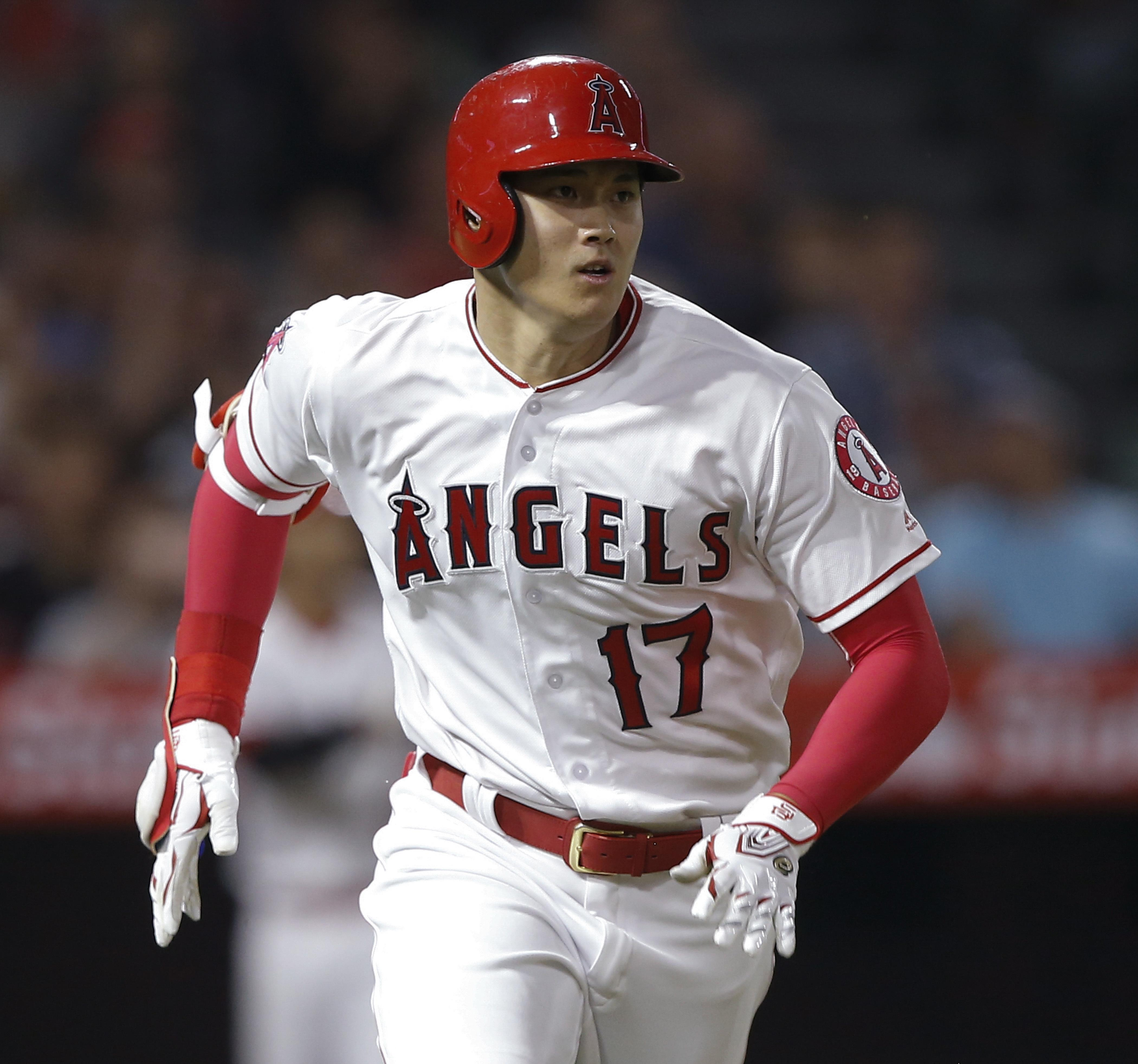 Los Angeles Angels designated hitter Shohei Ohtani runs out an RBI single  to right against the d93c27c83