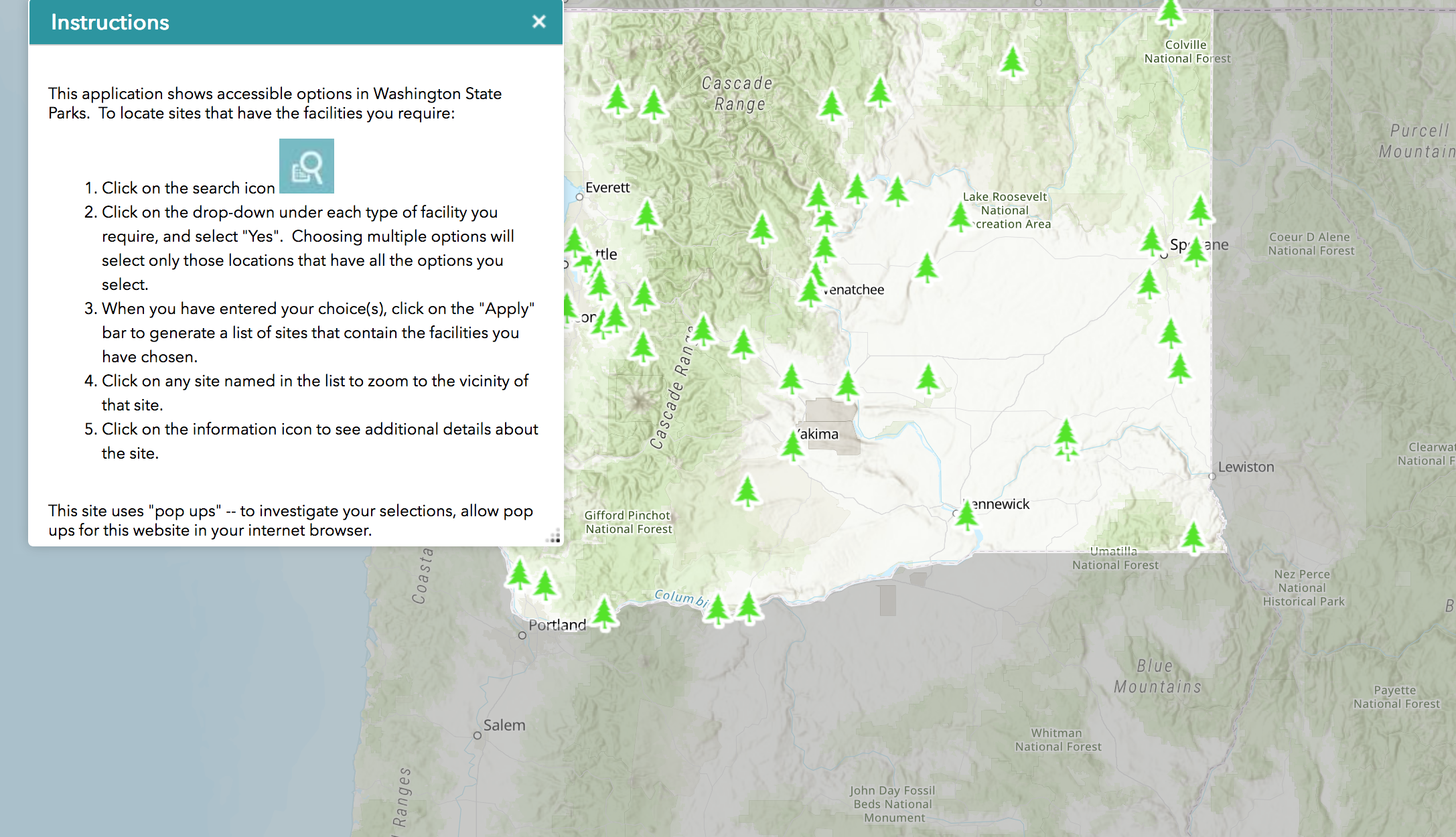 State Parks releases ADA recreation map   The Spokesman-Review
