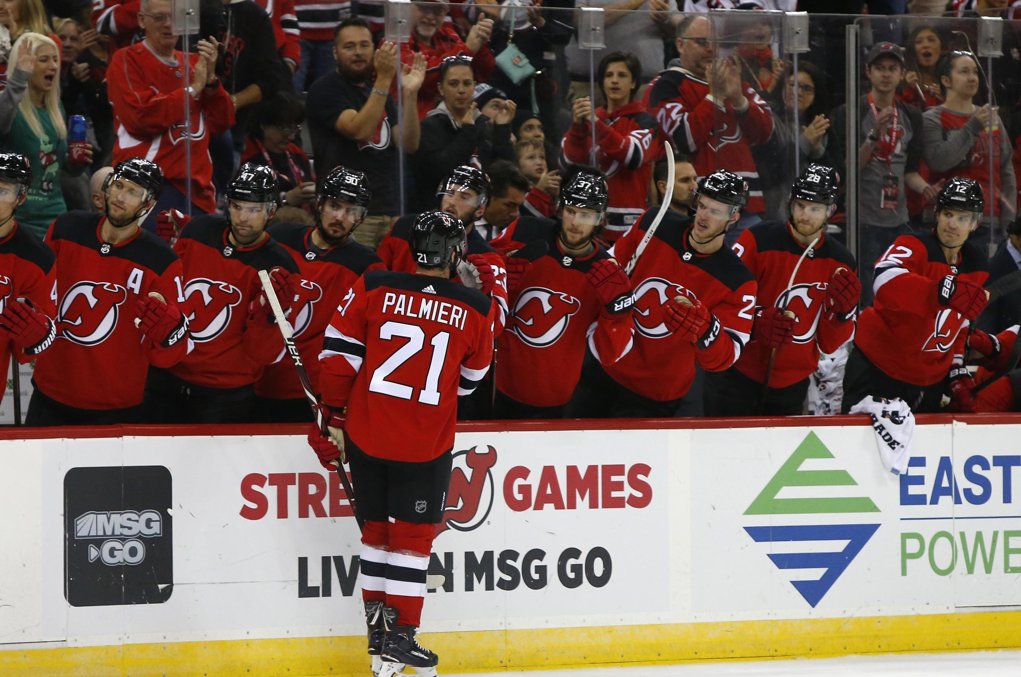 buy online 2da56 7fa19 NHL capsules: Kyle Palmieri has 3rd straight 2-goal game ...