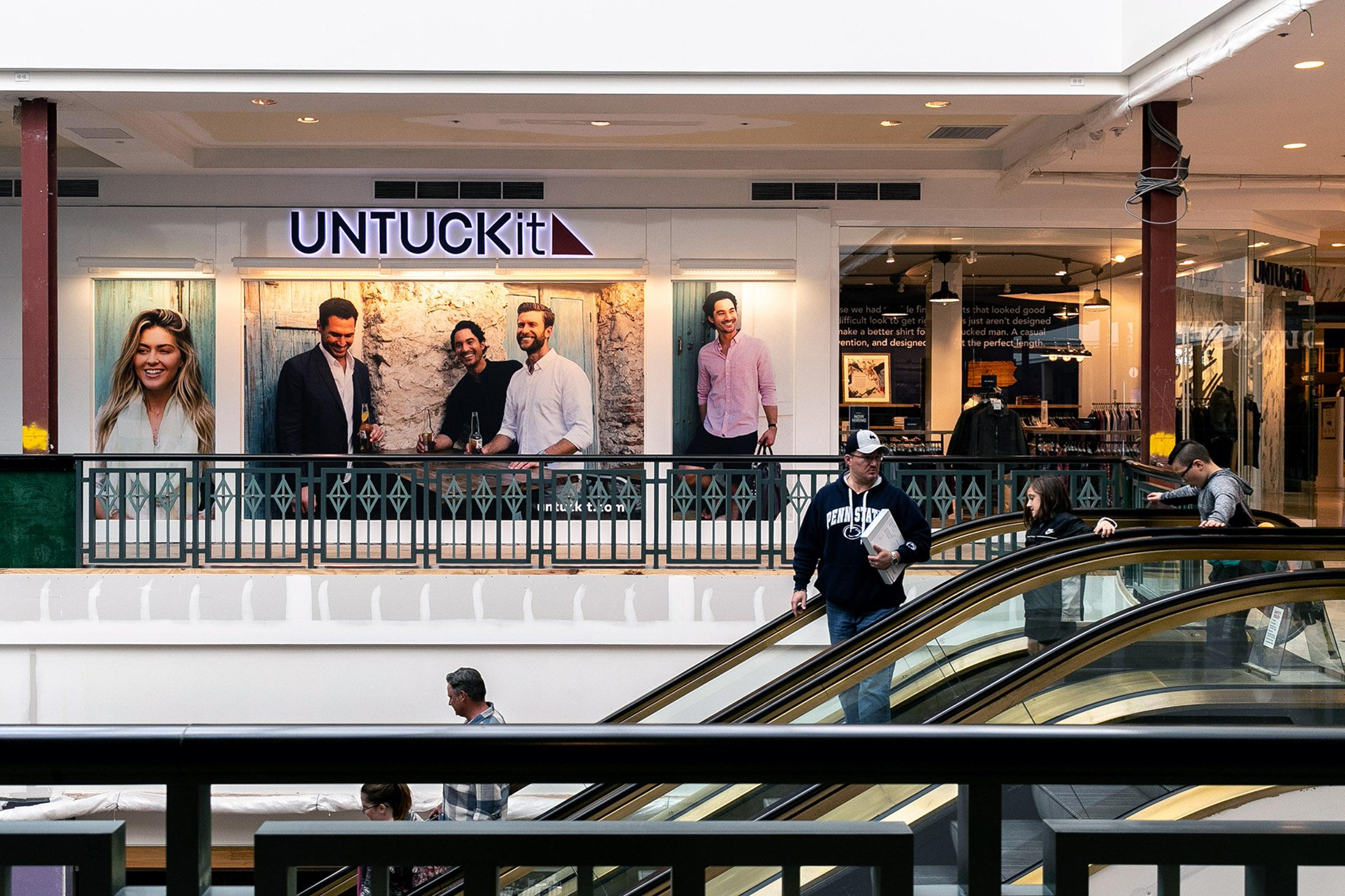 a9f11eb2531d An UntuckIt store at the King of Prussia mall in King of Prussia