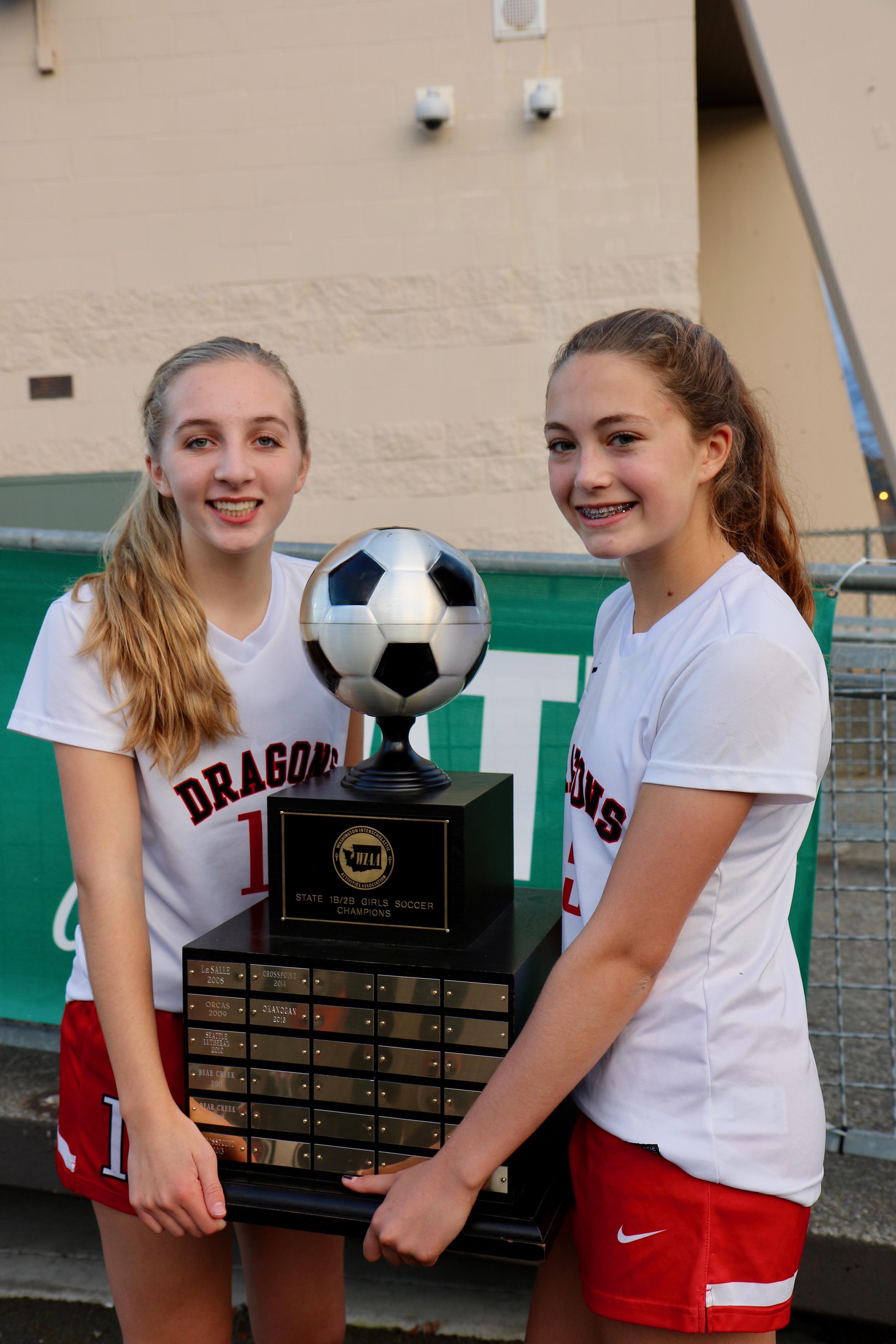 4c682624cb3 St. George s girls soccer players Abby Jones