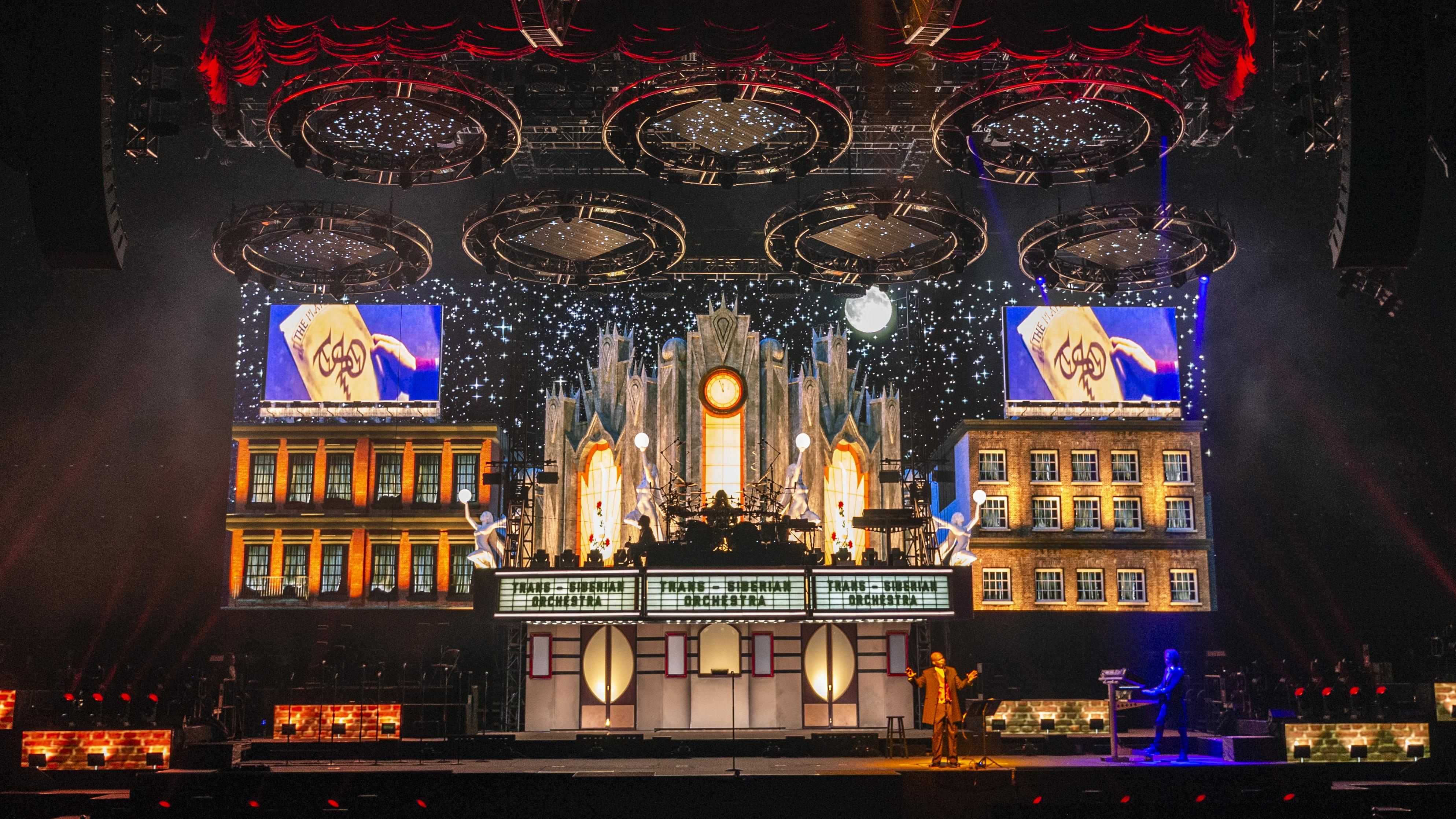 """A look at the set of Trans-Siberian Orchestra's 2018 tour of """"The Ghosts"""