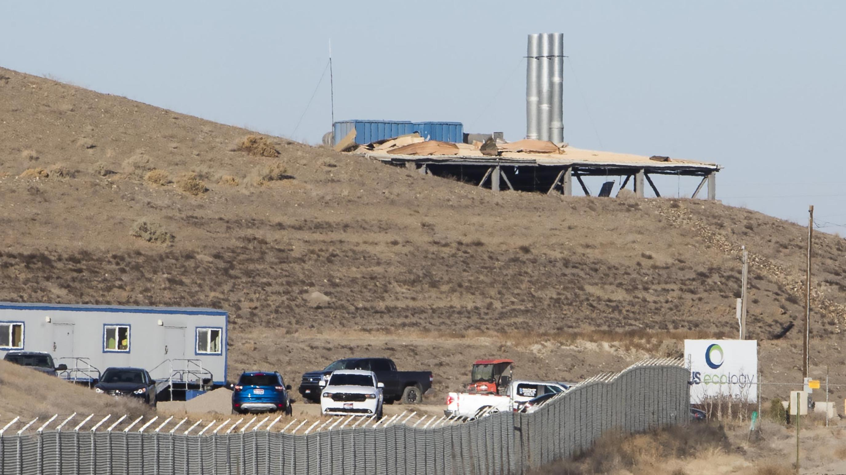 Monitors check for radiation release after waste site blast