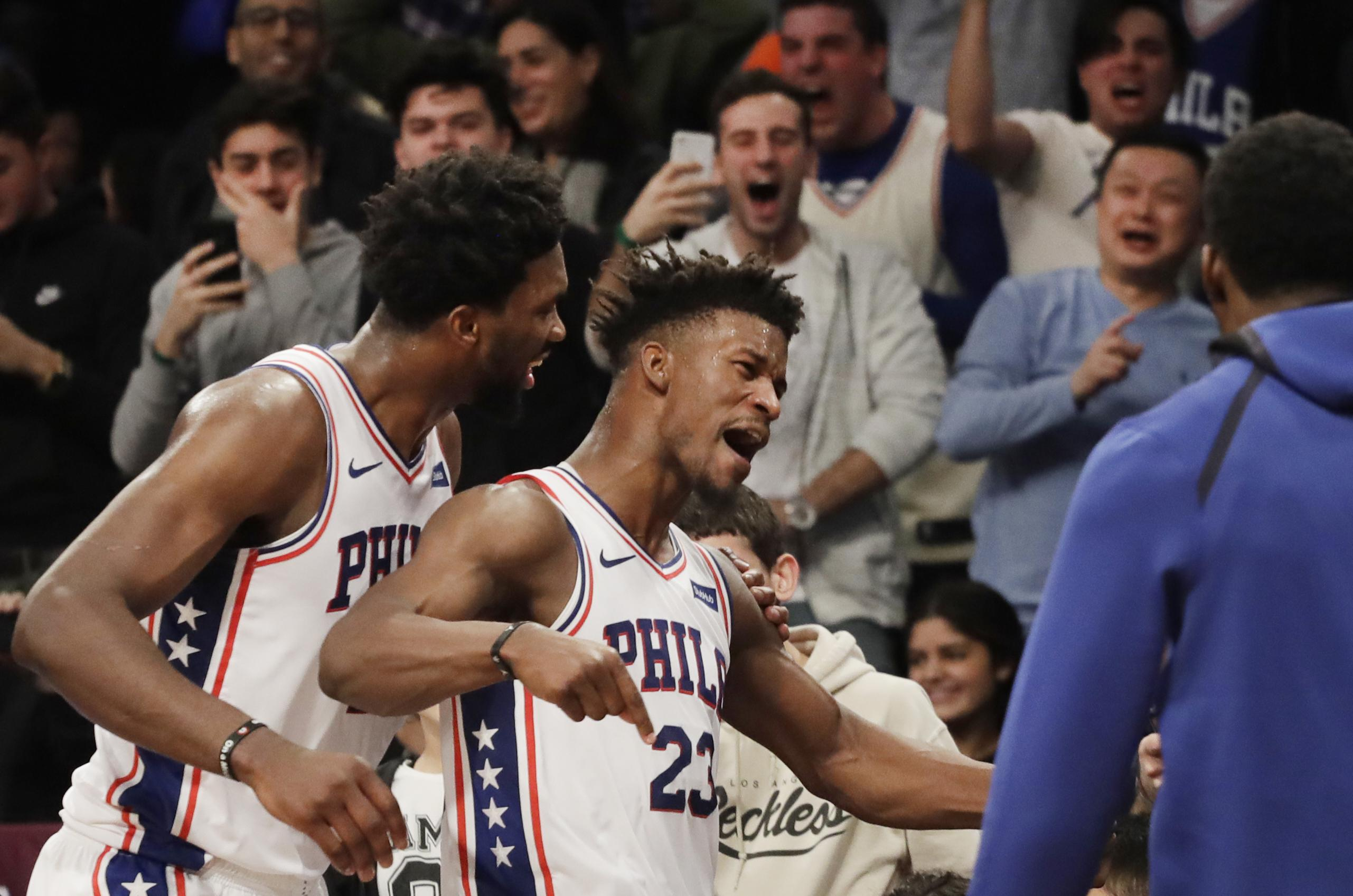 f92fc158561 NBA capsules  Jimmy Butler hits another winning 3 as Sixers rally ...